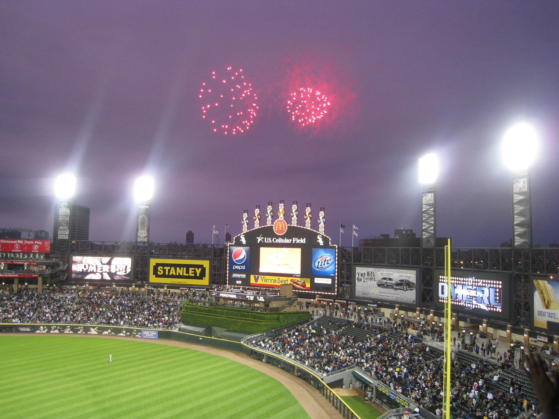 Fireworks at a White Sox Game