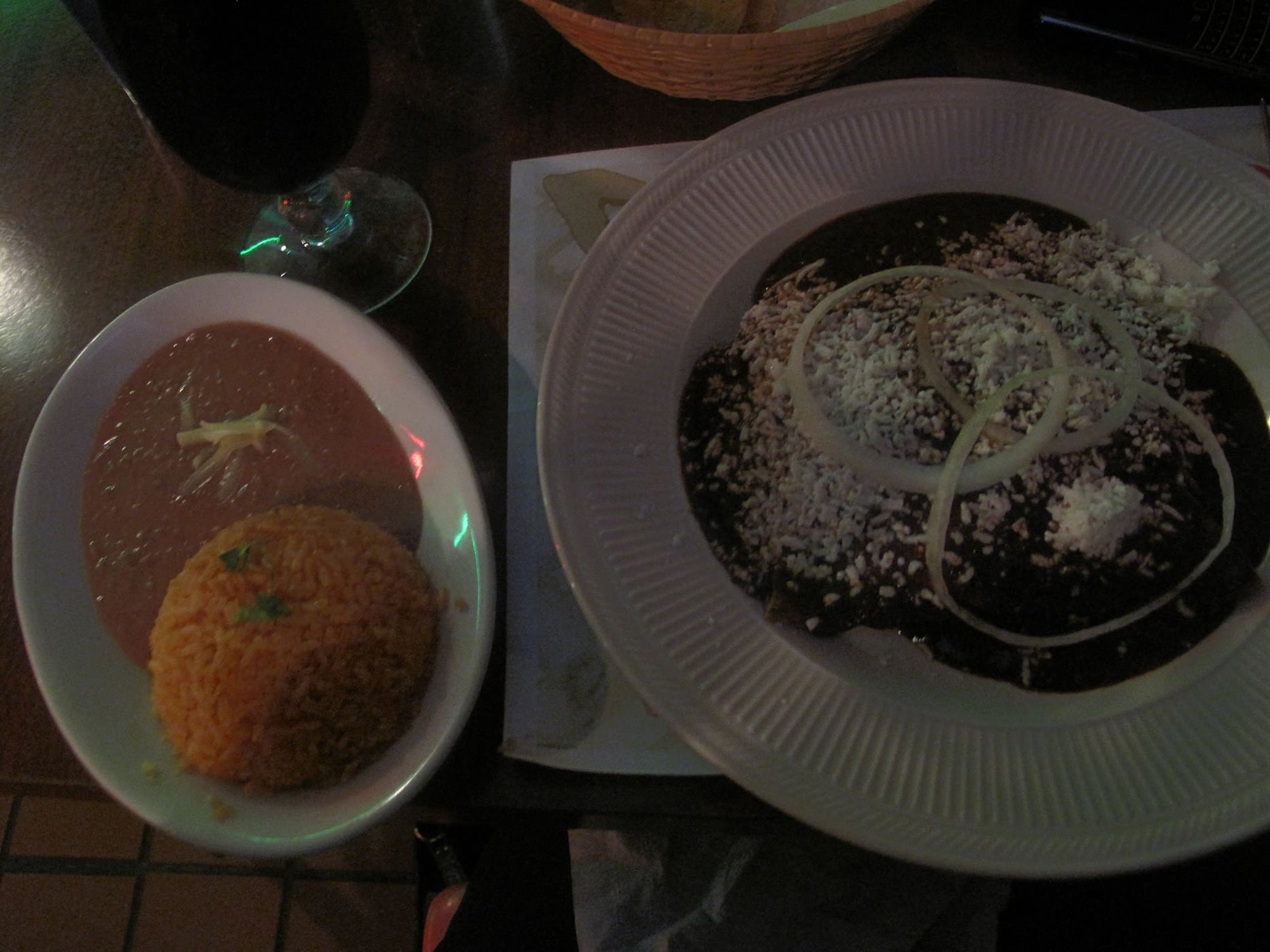 Caesar's Mole Enchiladas