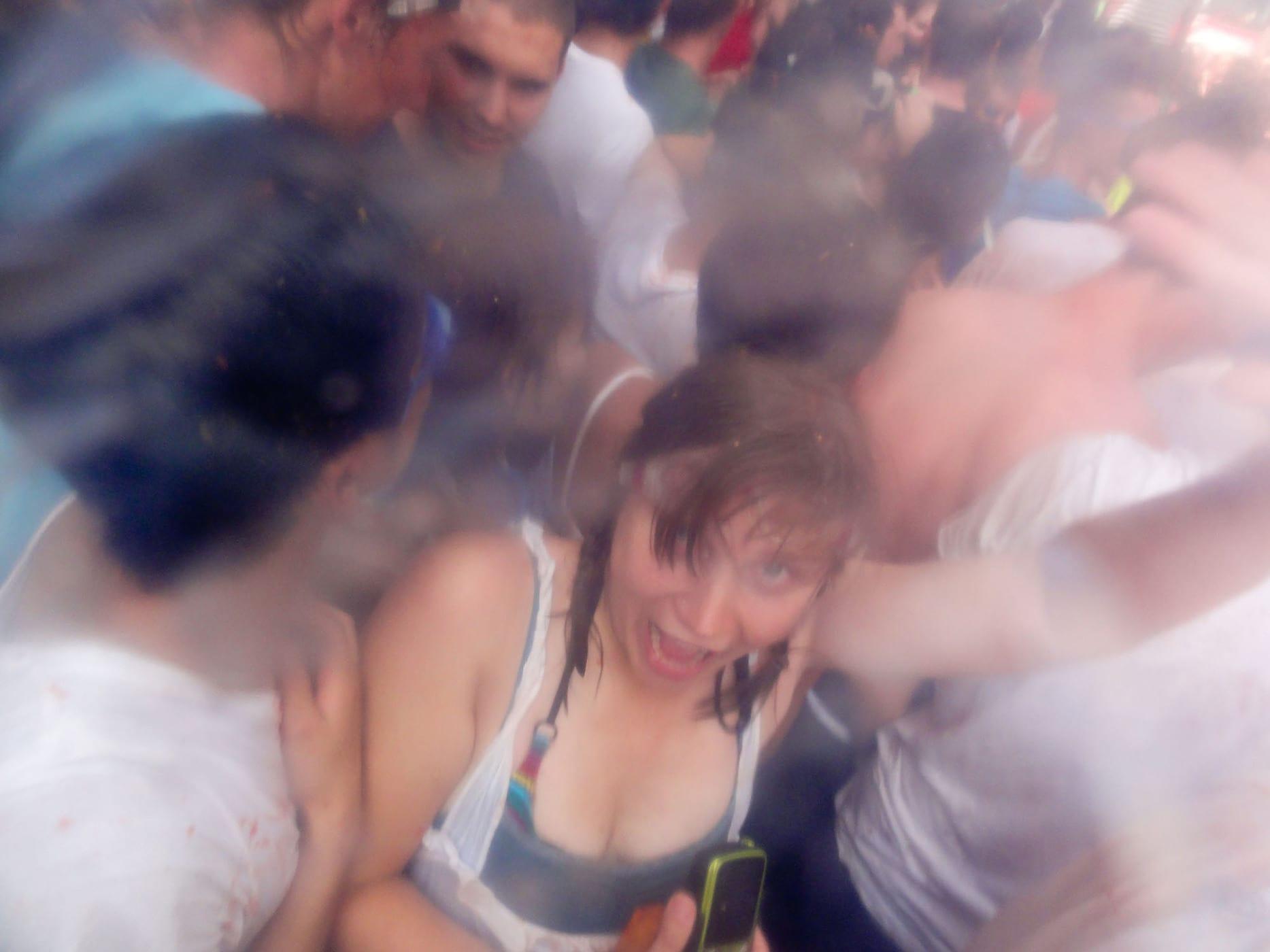 Me, at La Tomatina, 2011.