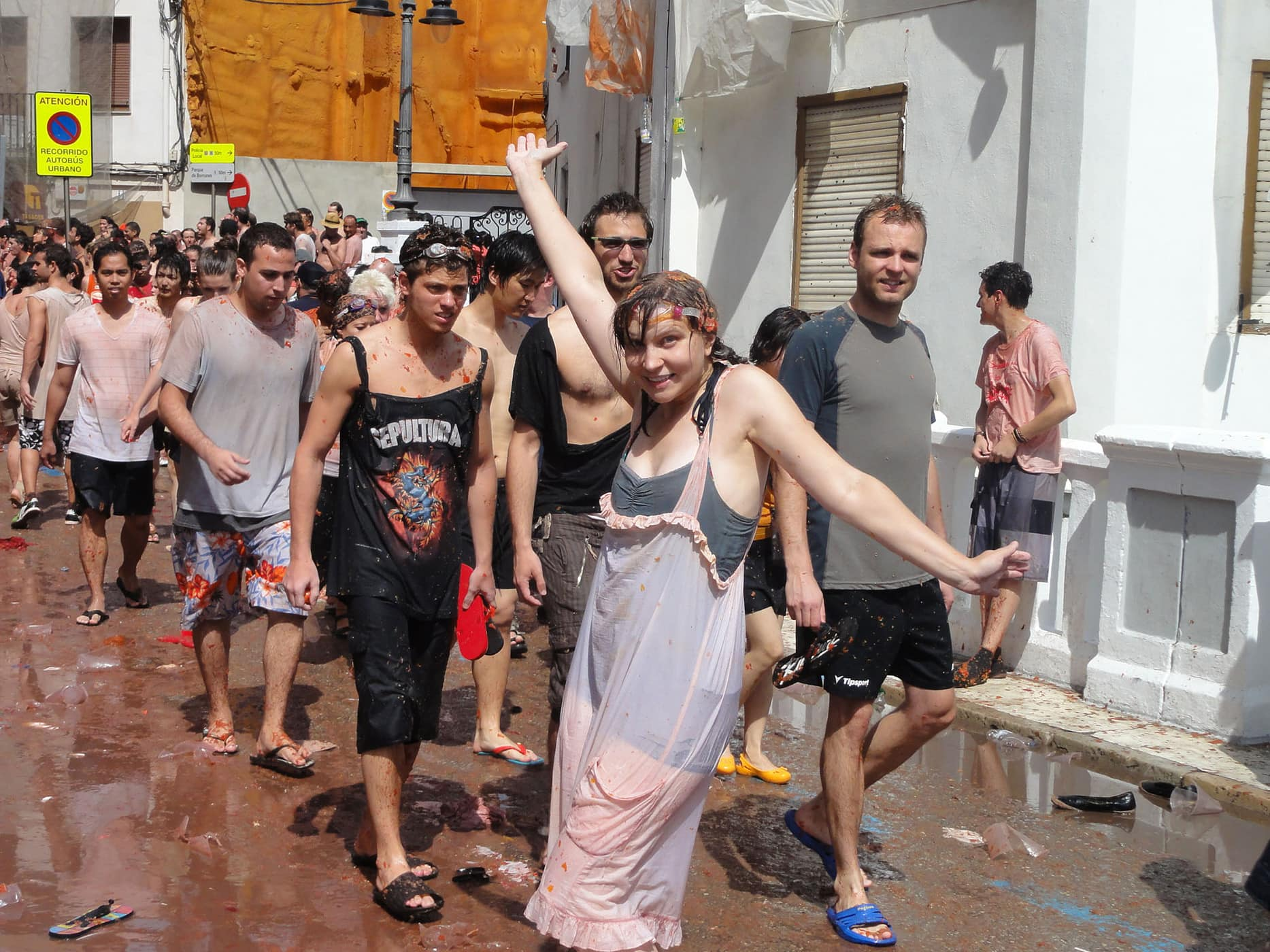 I survived La Tomatina!