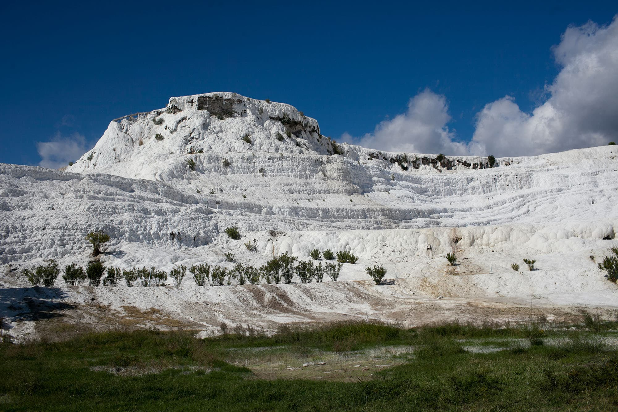 Exploring Hierapolis and the Pamukkale travertines in Turkey.