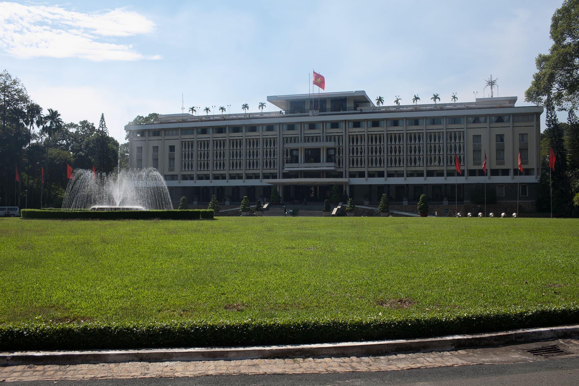 Independence Palace in Saigon, Vietnam.