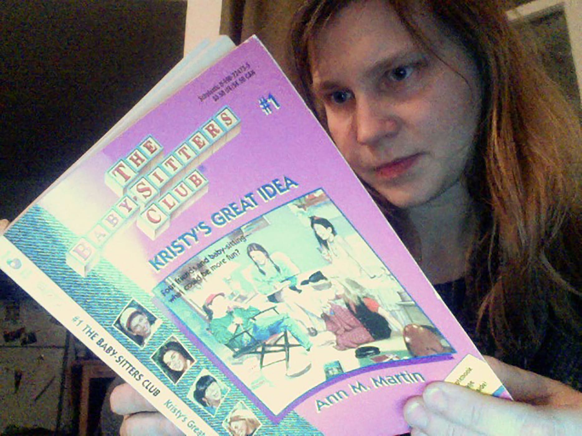 Val reads Baby-Sitters Club Book #1 - Kristy's Great Idea