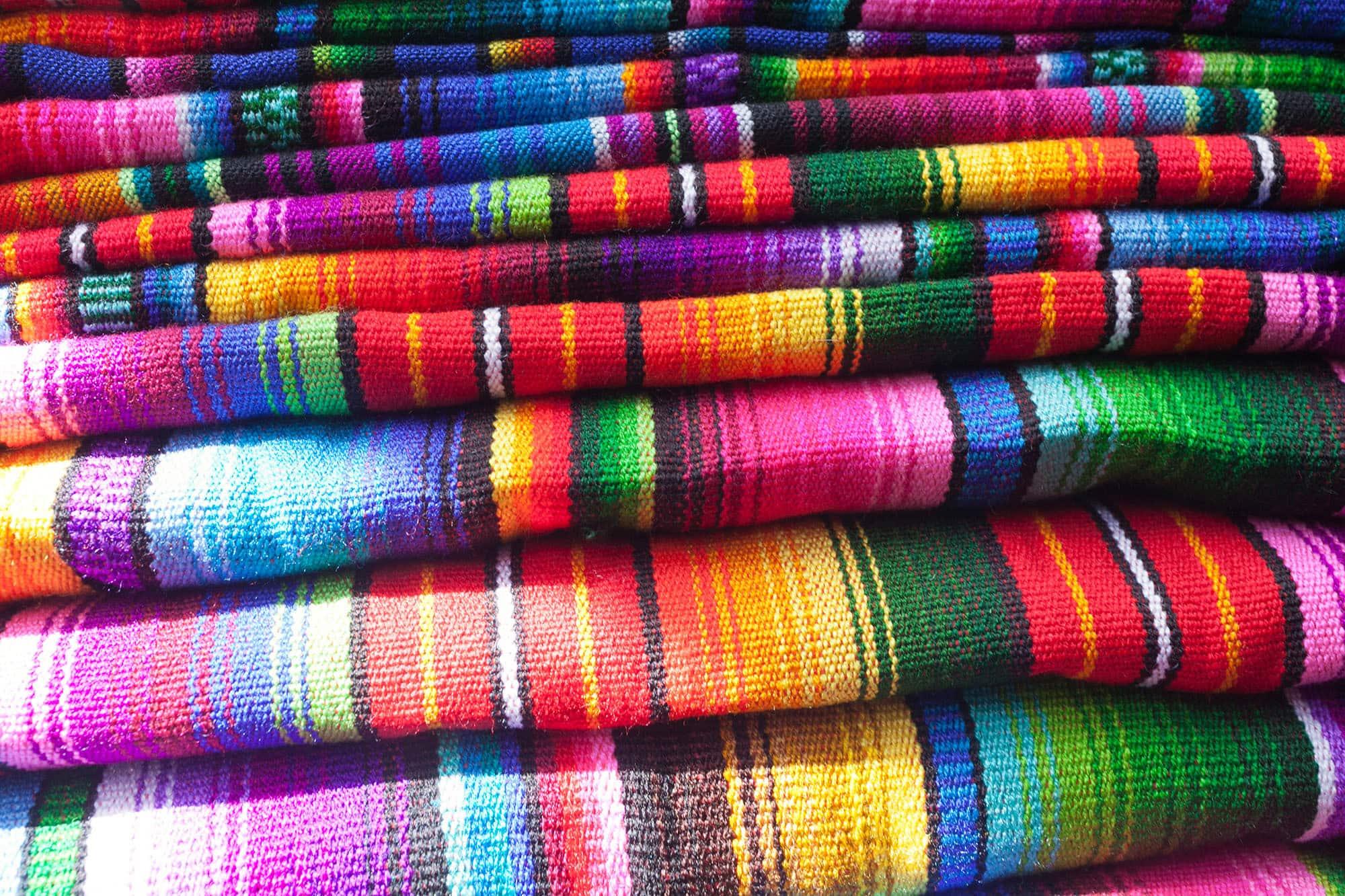 Guatemalan Blankets at Chichicastenango, Guatemala