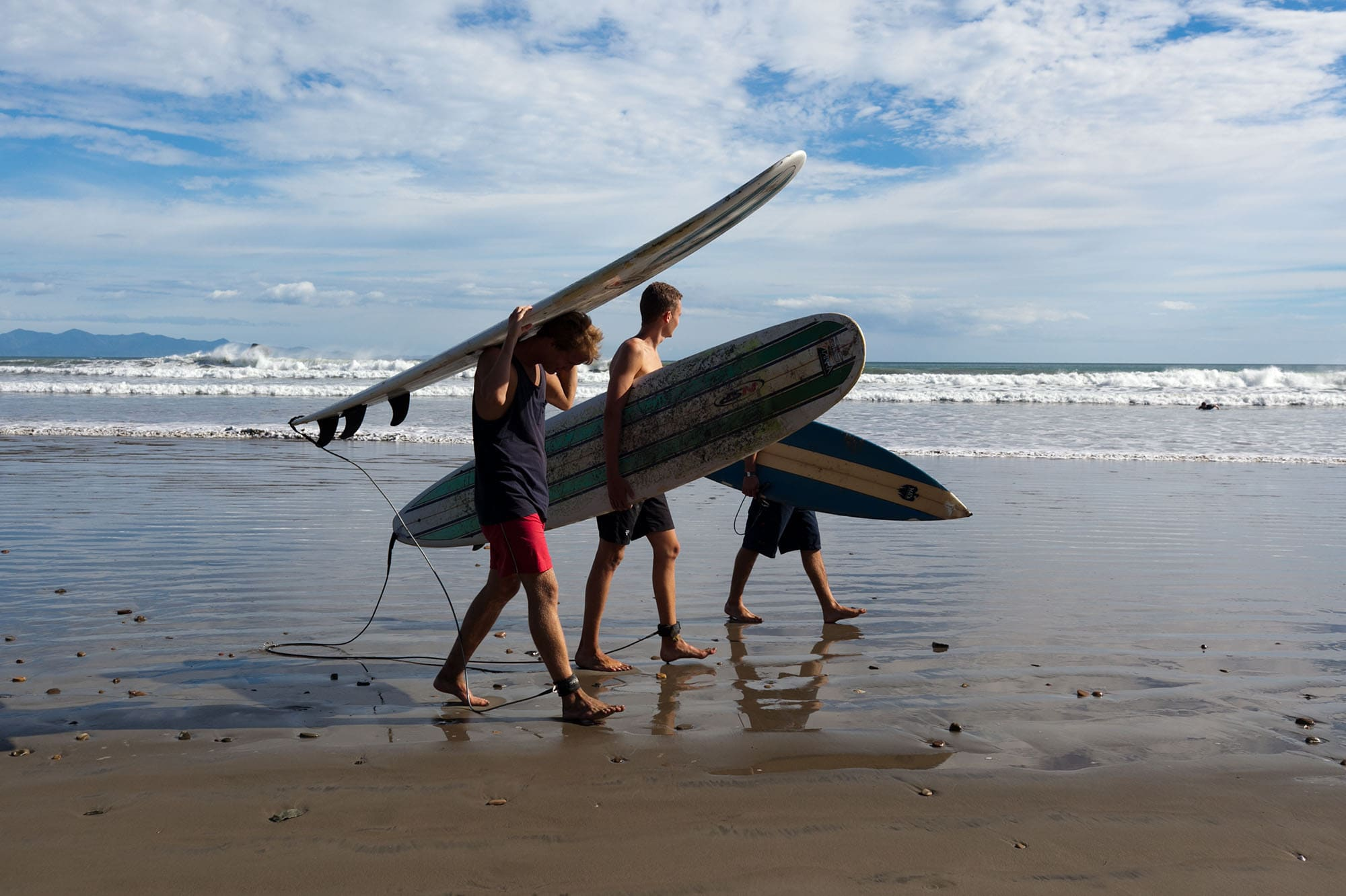 Surfing on Hermosa Beach, Nicaragua