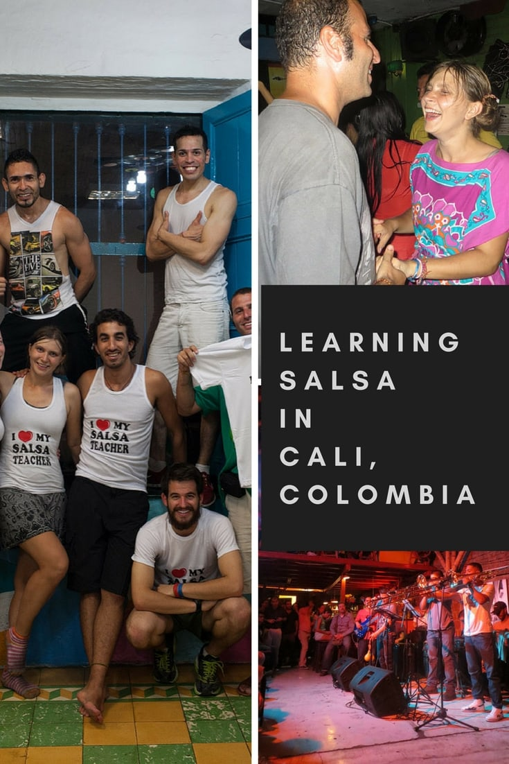 Learning to Salsa dance in Cali, Colombia.