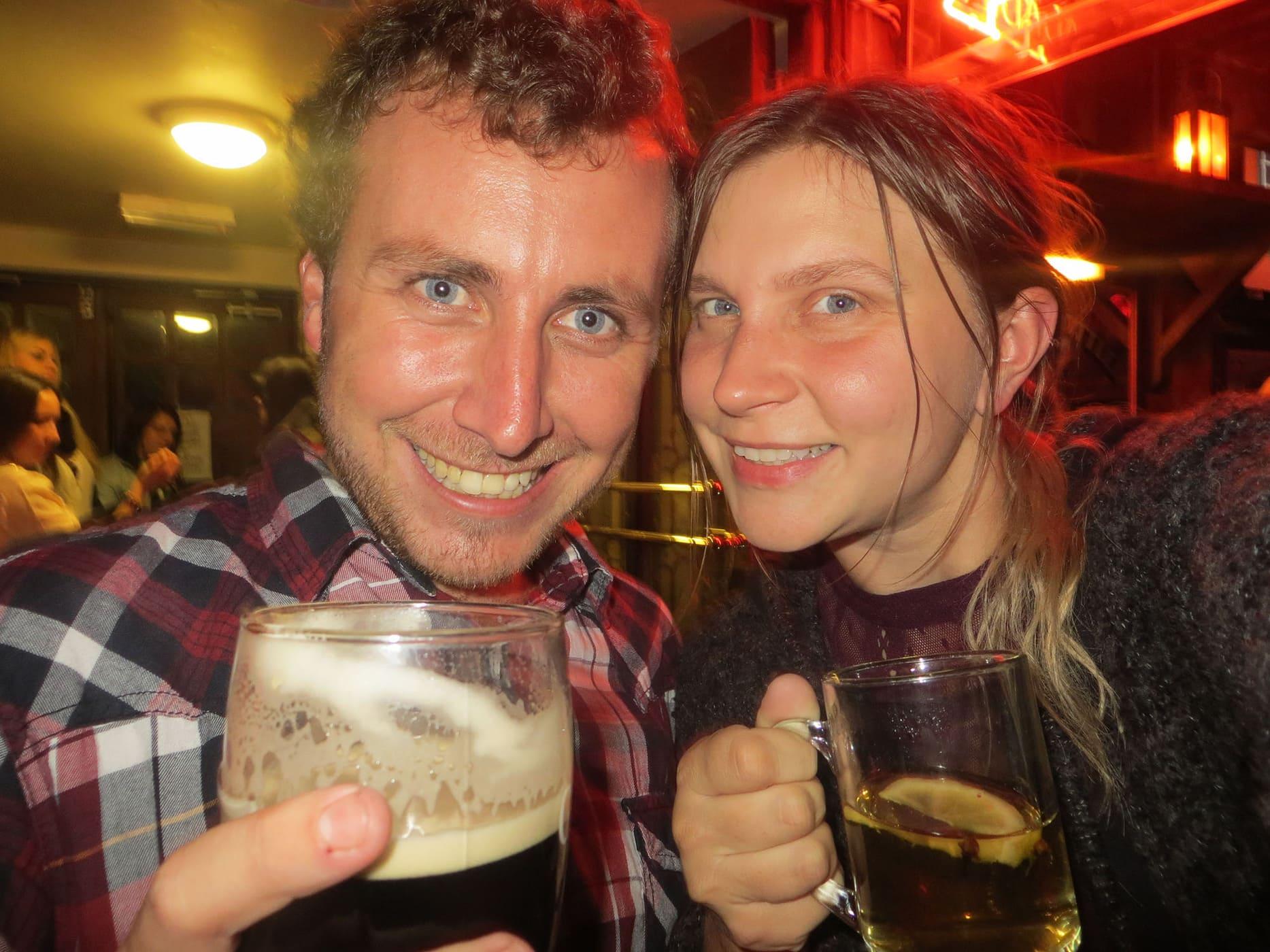 Drink at a Pub in Dublin, Ireland