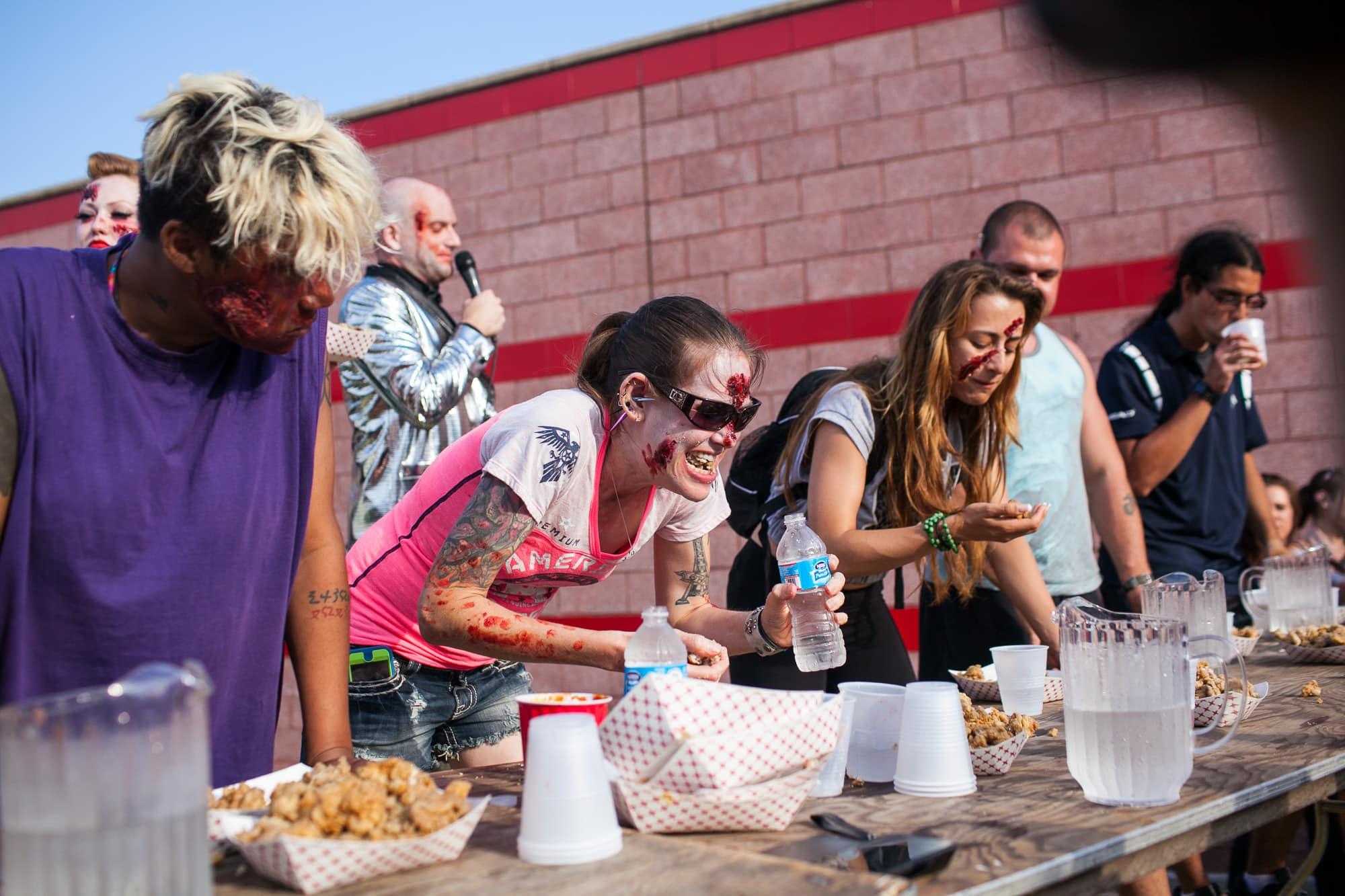 Brain Bash at the Beach Brain Eating Contest