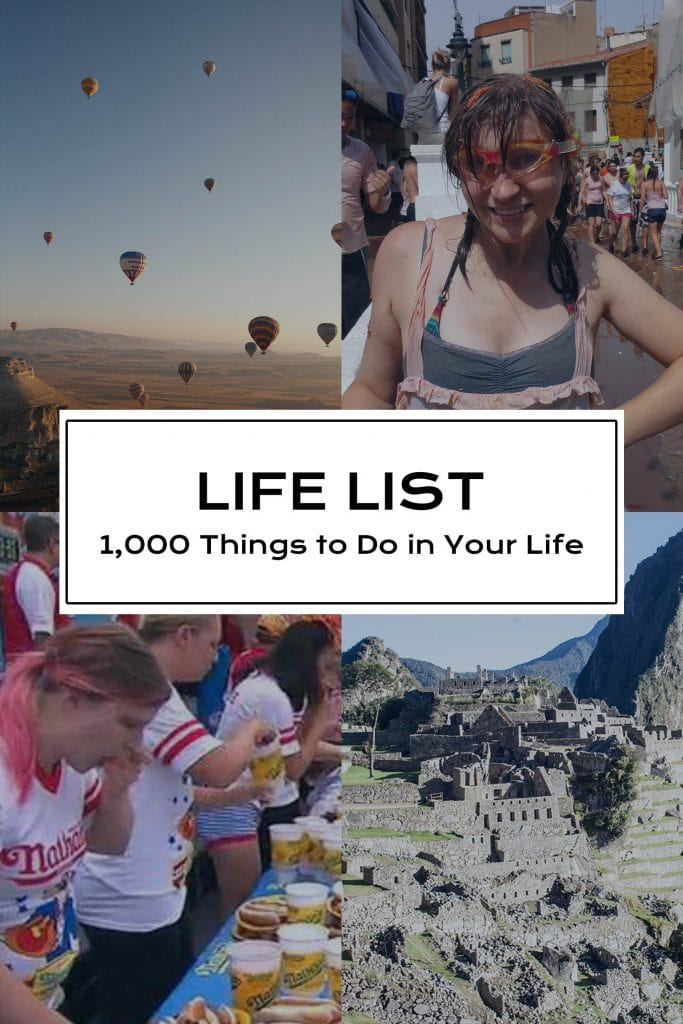 Life List - 1,000 Things to Do in Your Life