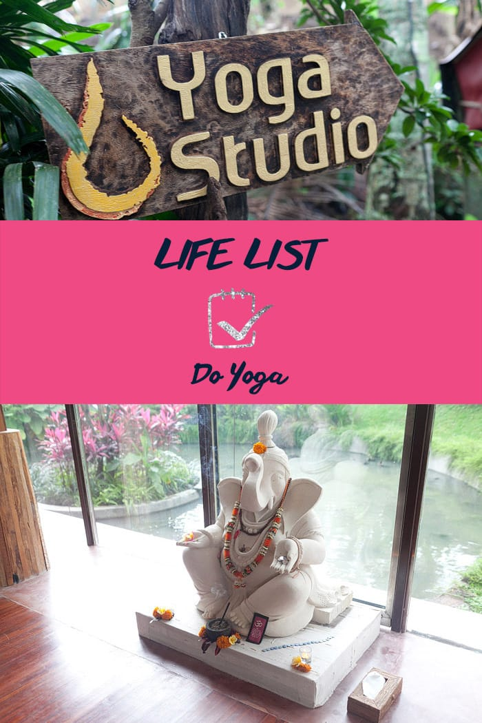 Life List: Do Yoga