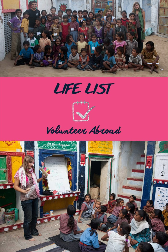 Life List: Volunteer Abroad