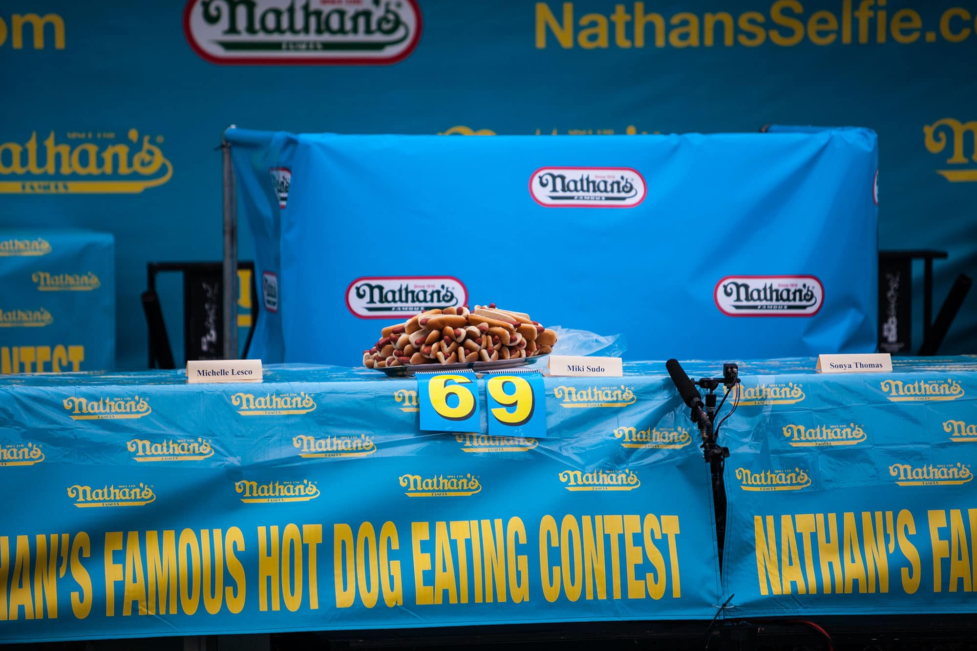 World Record 69 Hot Dogs - Nathan's Famous July 4 Hot Dog Eating Contest 2015