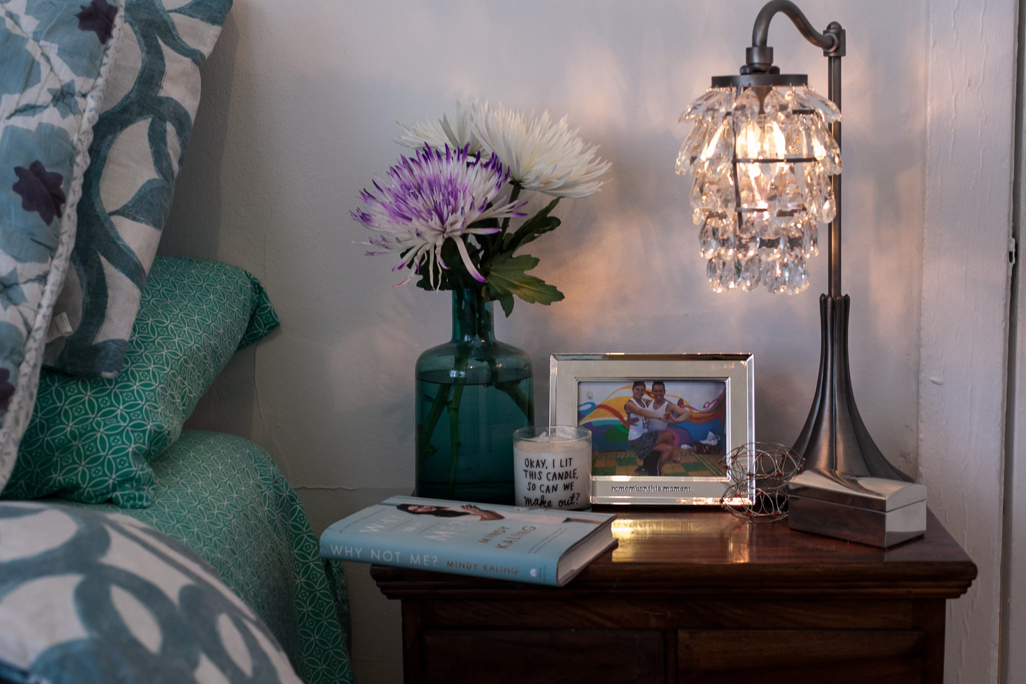 A tour of my teal and white boho bedroom. My boho bedroom in blue    Choosing Figs