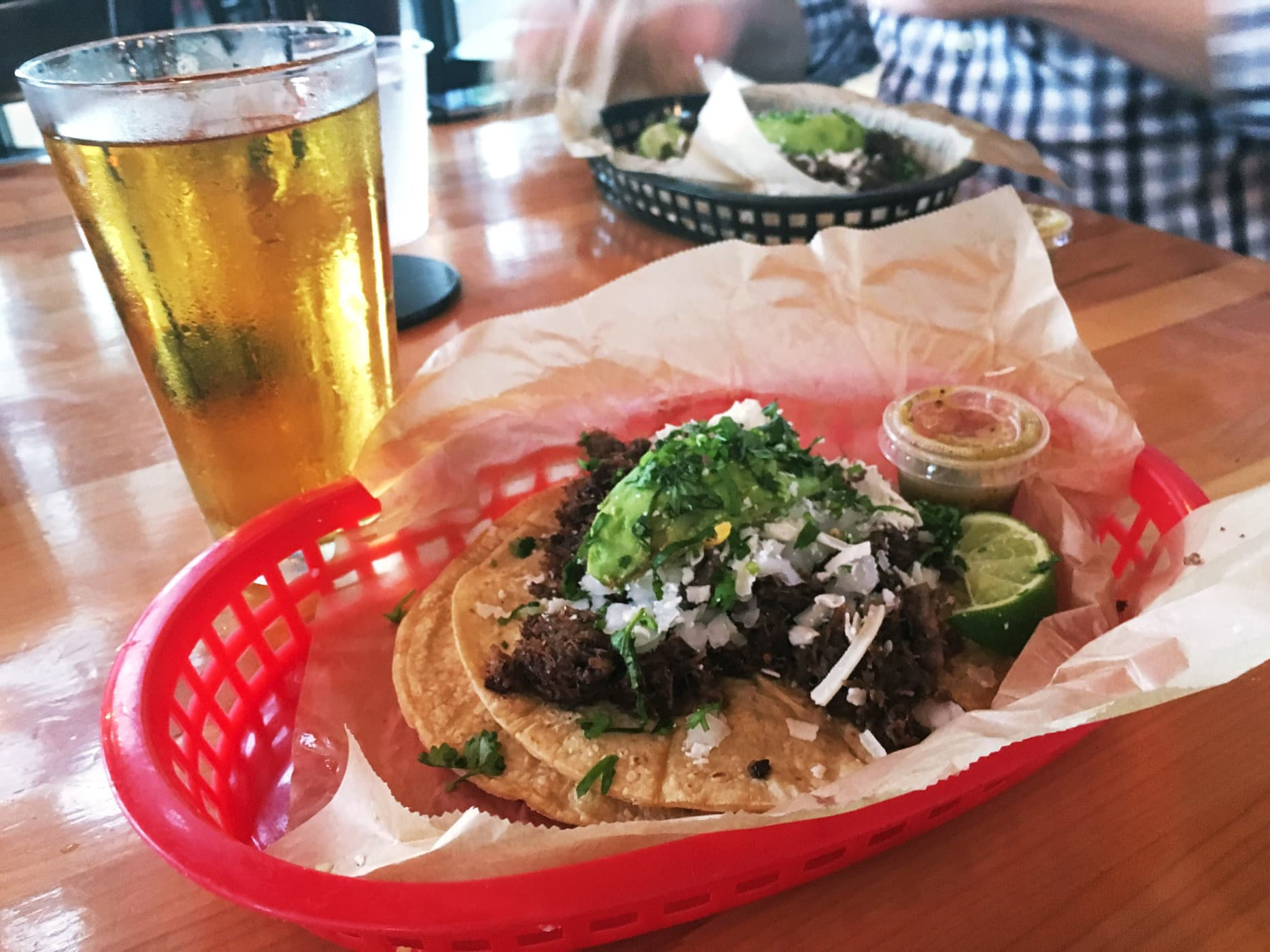 The Democrat taco at Torchy's Tacos in Austin, Texas.