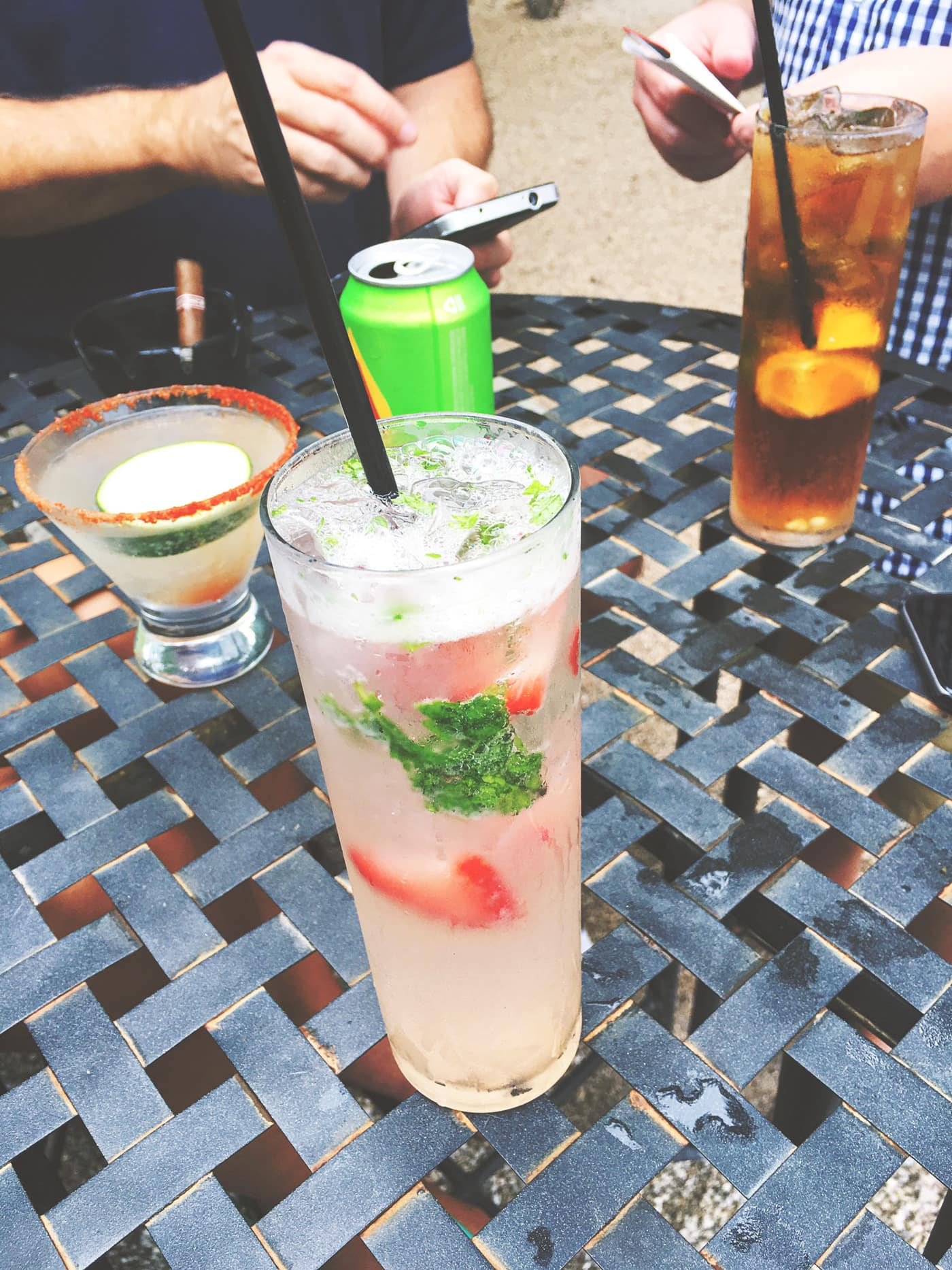 Strawberry Mojito at Lucille on Rainey Street in Austin, Texas.