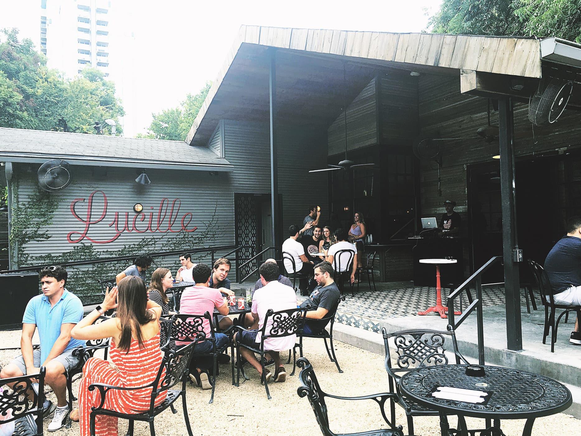 Lucille on Rainey Street in Austin, Texas.