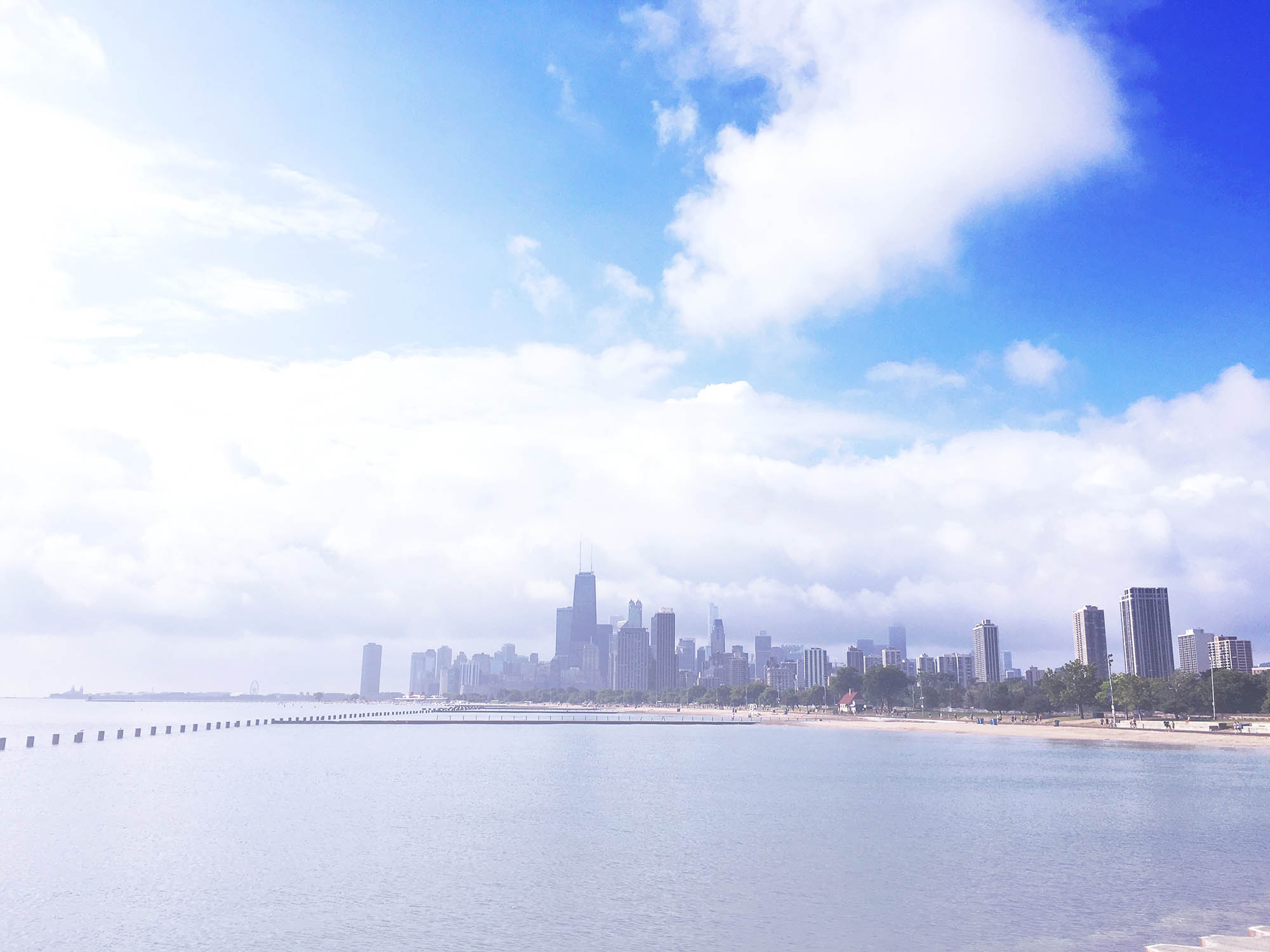 I take a lot of walks along the lakefront.