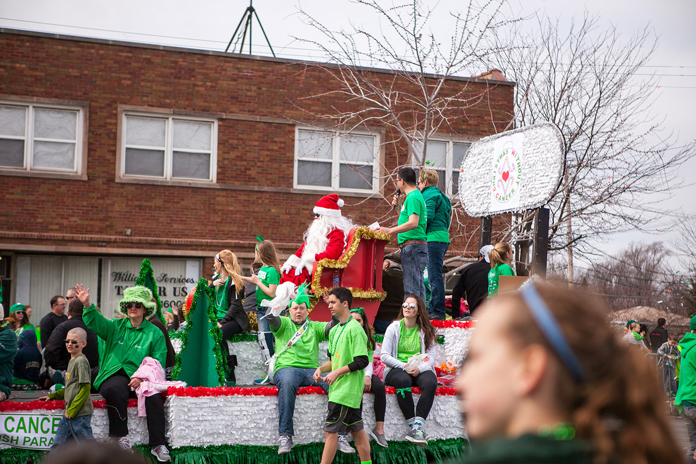 Santa Claus at the Chicago South Side Irish Parade 2015 - St. Patrick's Day