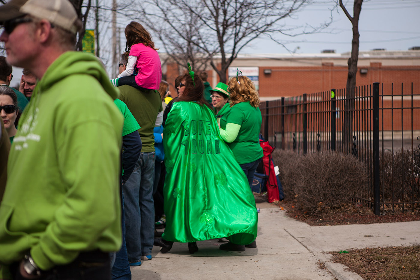 Super Drunk Cape at Chicago South Side Irish Parade 2015 - St. Patrick's Day