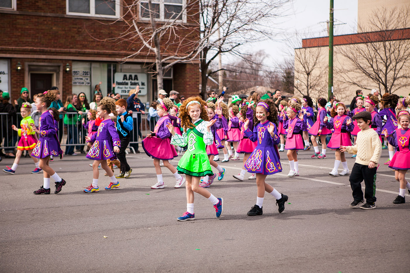 Irish Dancers at the Chicago South Side Irish Parade 2015 - St. Patrick's Day