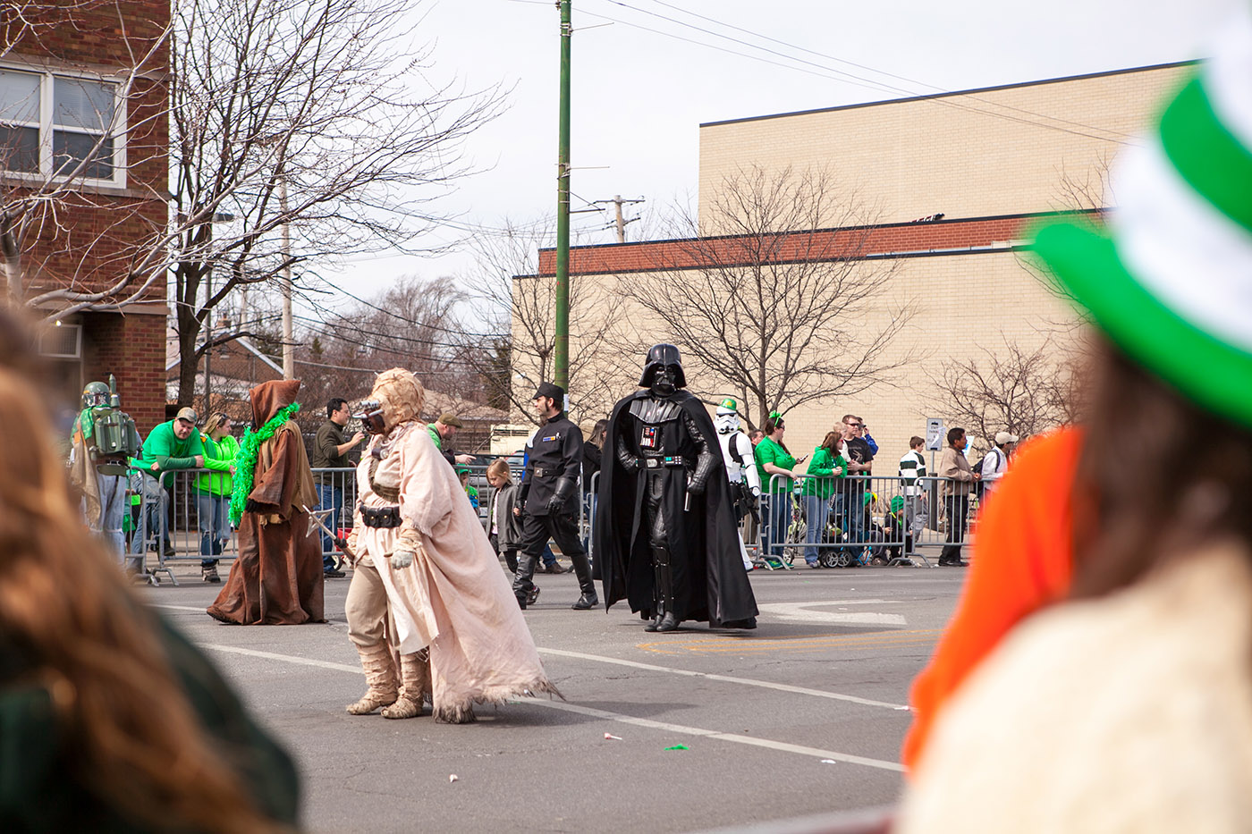 Darth Vader at the Chicago South Side Irish Parade 2015 - St. Patrick's Day