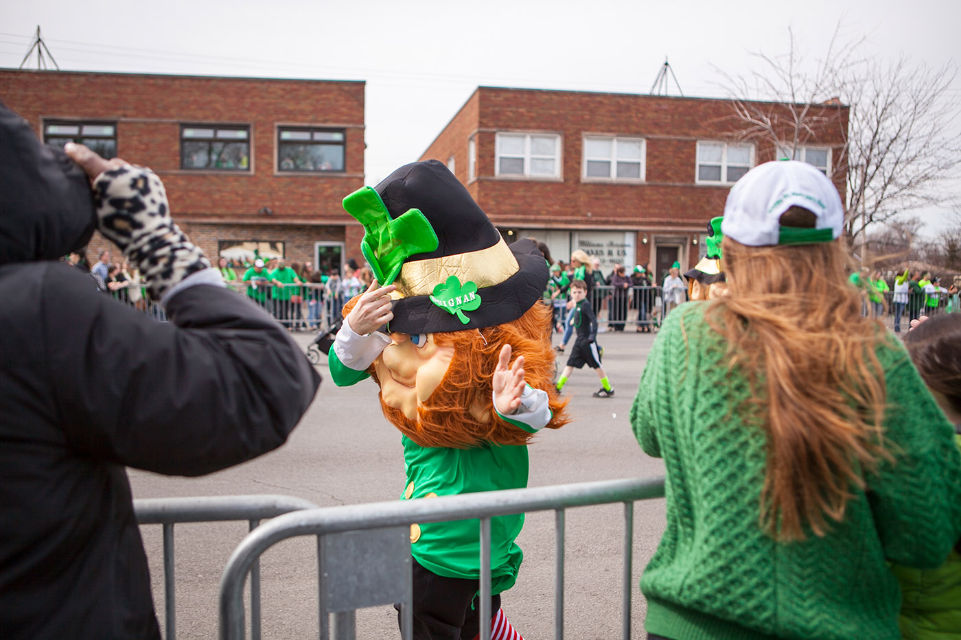Leprechaun at the Chicago South Side Irish Parade 2015 - St. Patrick's Day