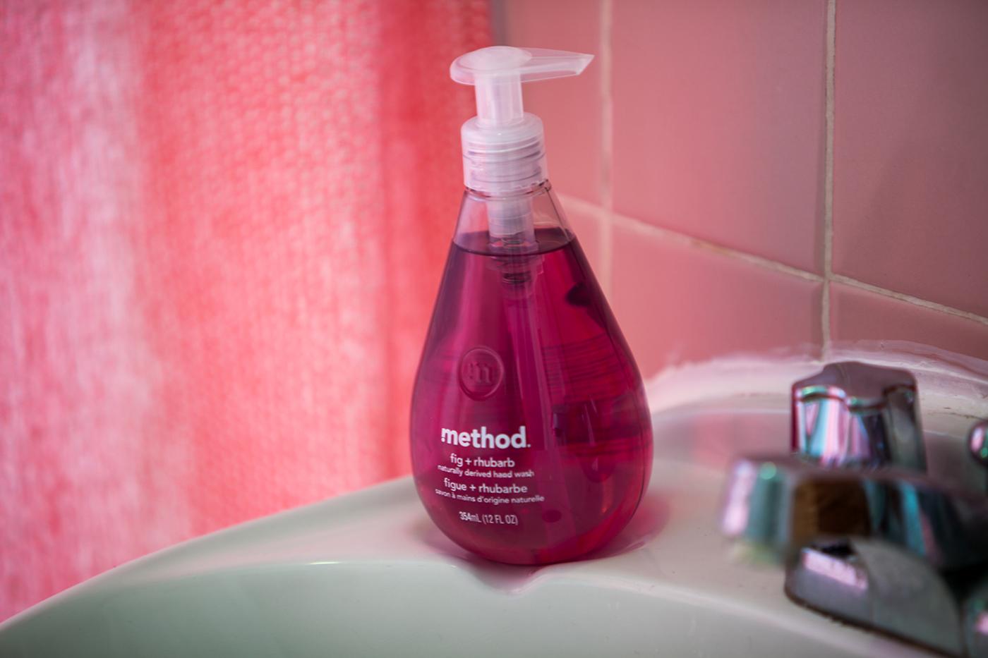 Pretty in Pink Bathroom - Method Fig and Rhubarb Soap