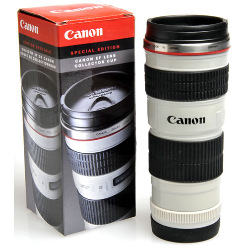 I managed to mention tacos three times choosing figs for Canon photo lens mug