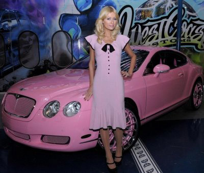 Paris Hilton's pink Bentley