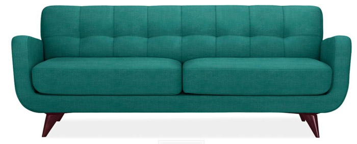 Attractive The Prettiest Teal Blue Couch In The World.