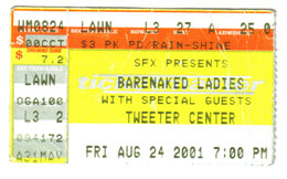 Barenaked Ladies Concert Ticket