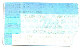 Morrisey concert ticket