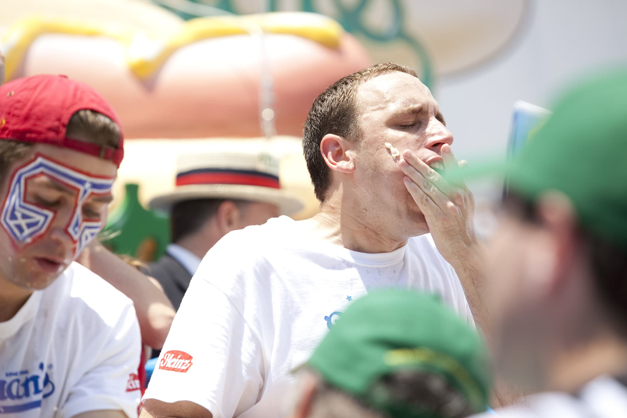 Fourth of July hot dog eating contest at Coney Island