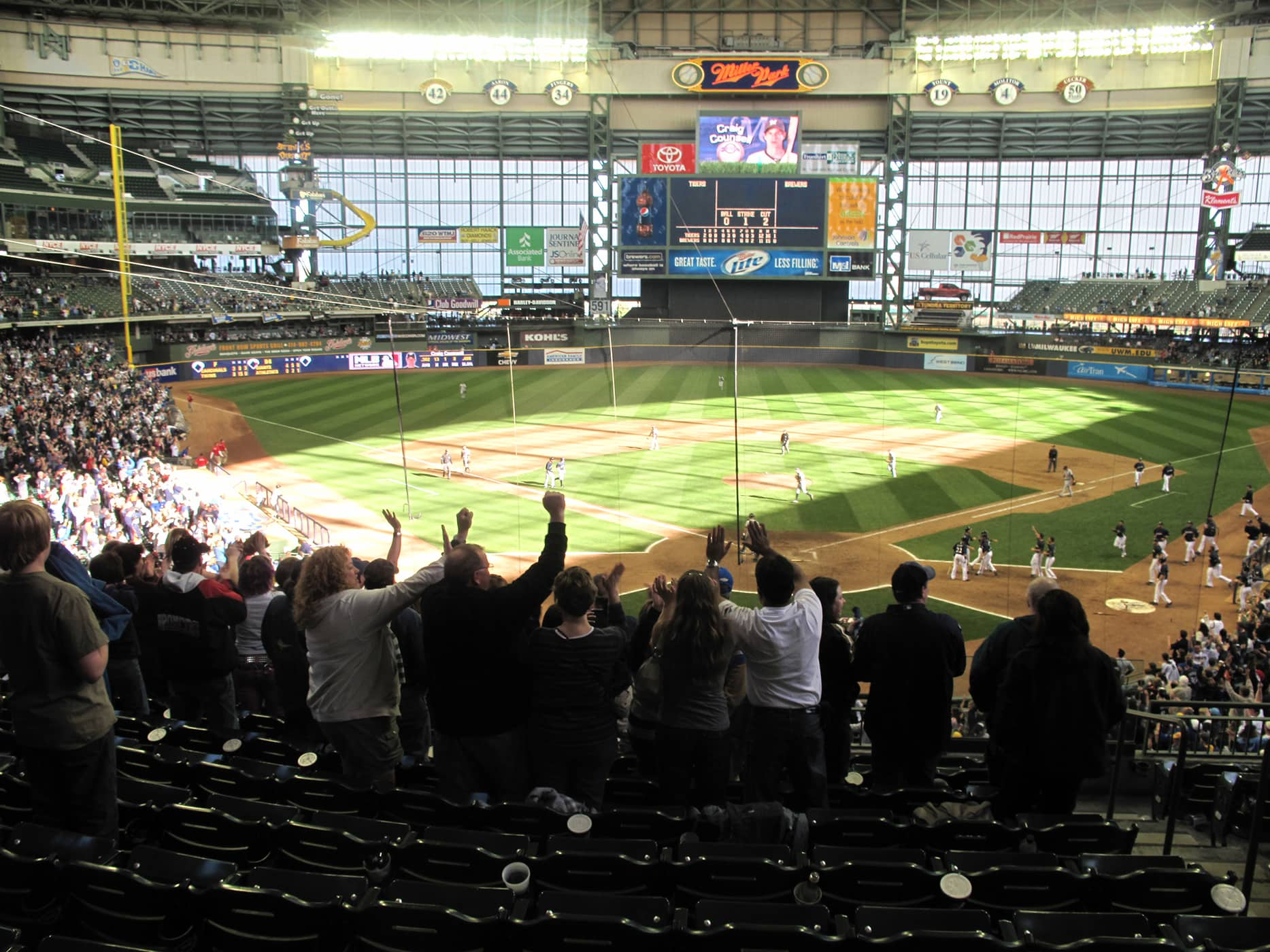 Brewers game at Miller Park in Milwaukee, Wisconsin