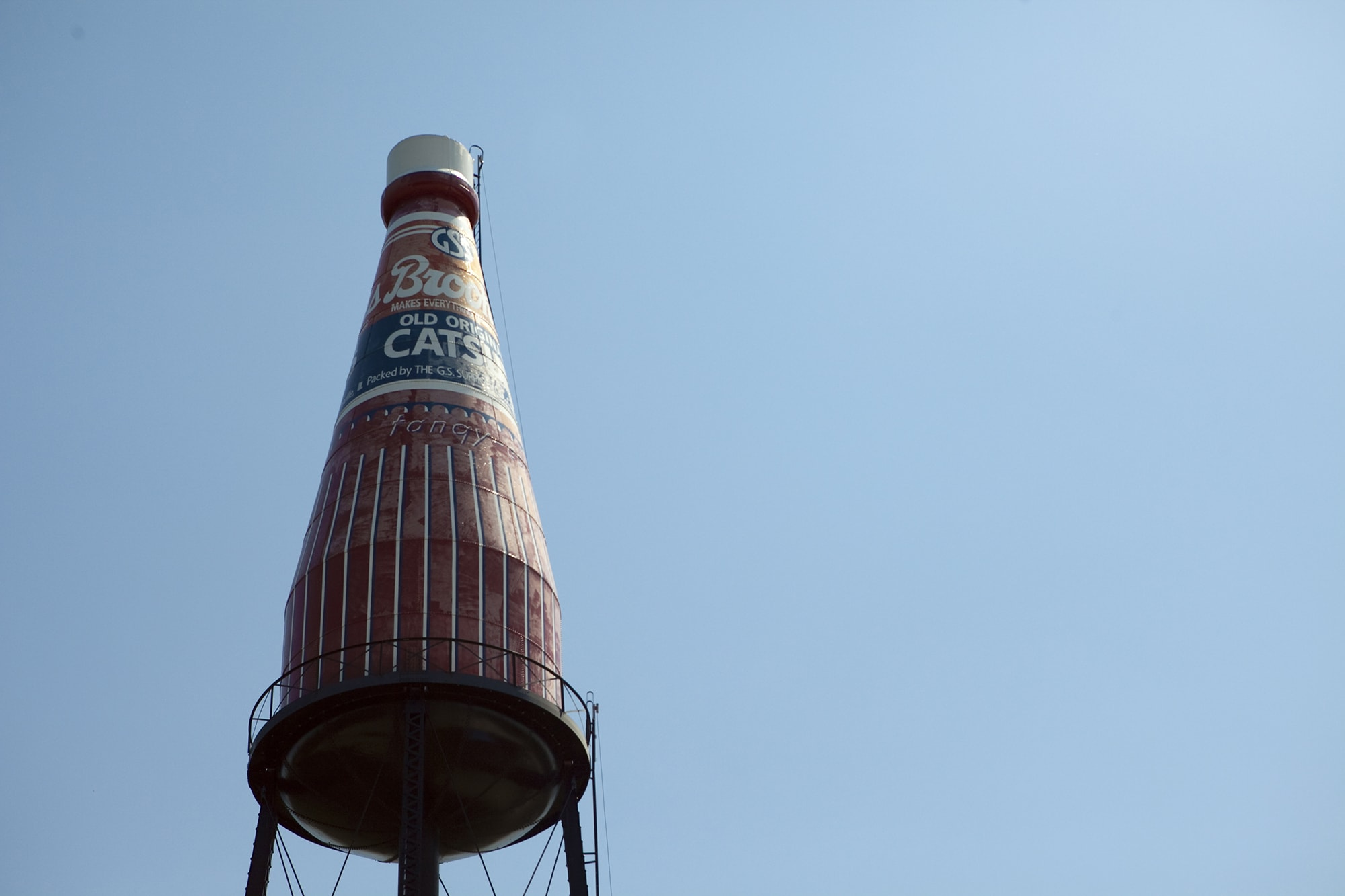 World's Largest Catsup bottle on a Missouri road trip.