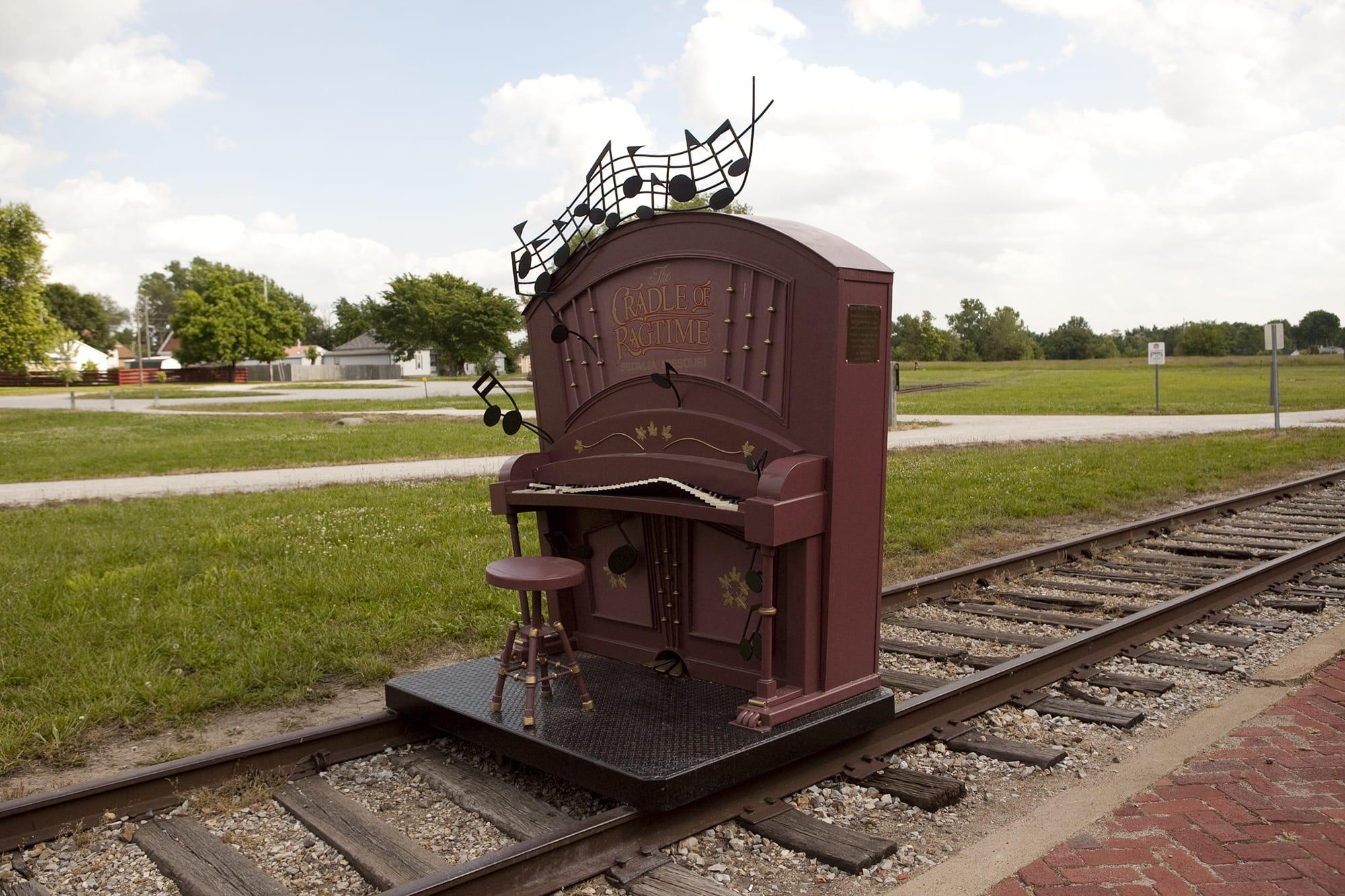 Railroad art on a Missouri road trip.