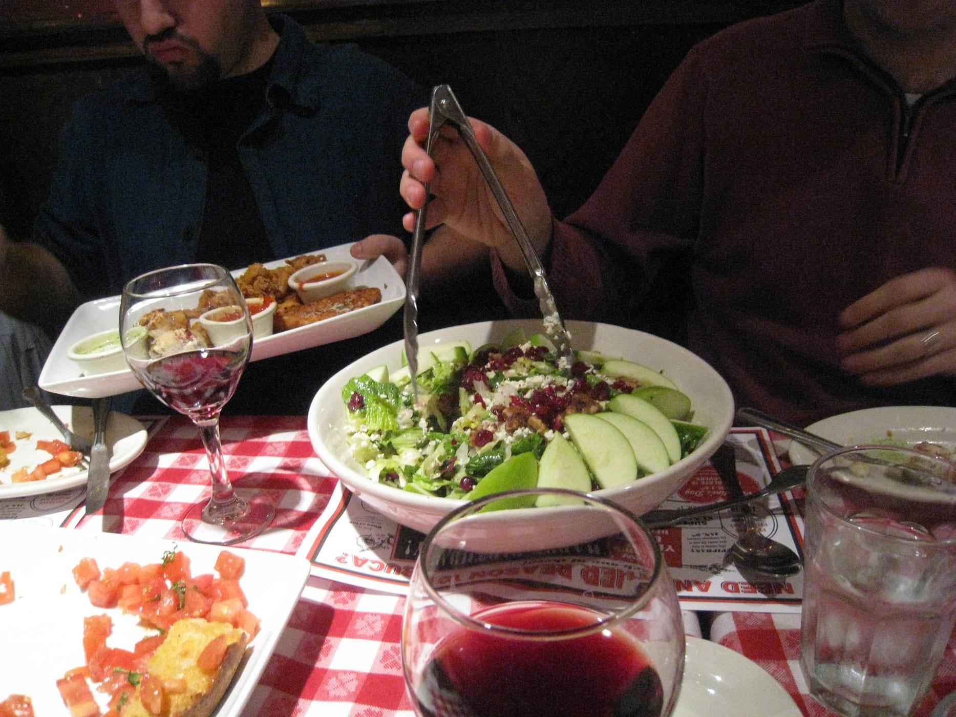 Apple Gorgonzola Salad at Bucca di Beppo