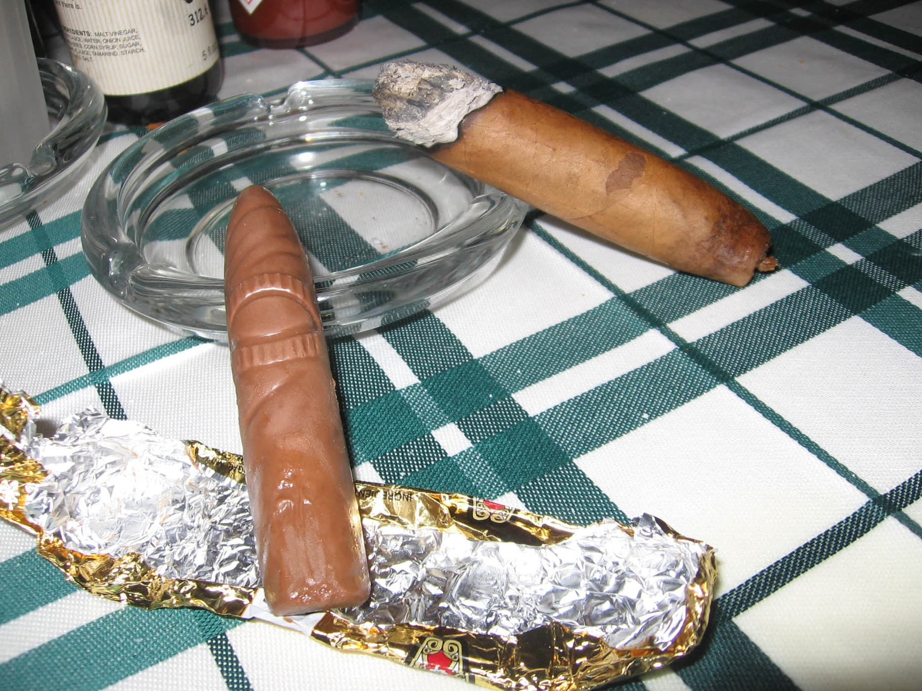 Real cigar and chocolate cigar  - Happy birthday Andy!