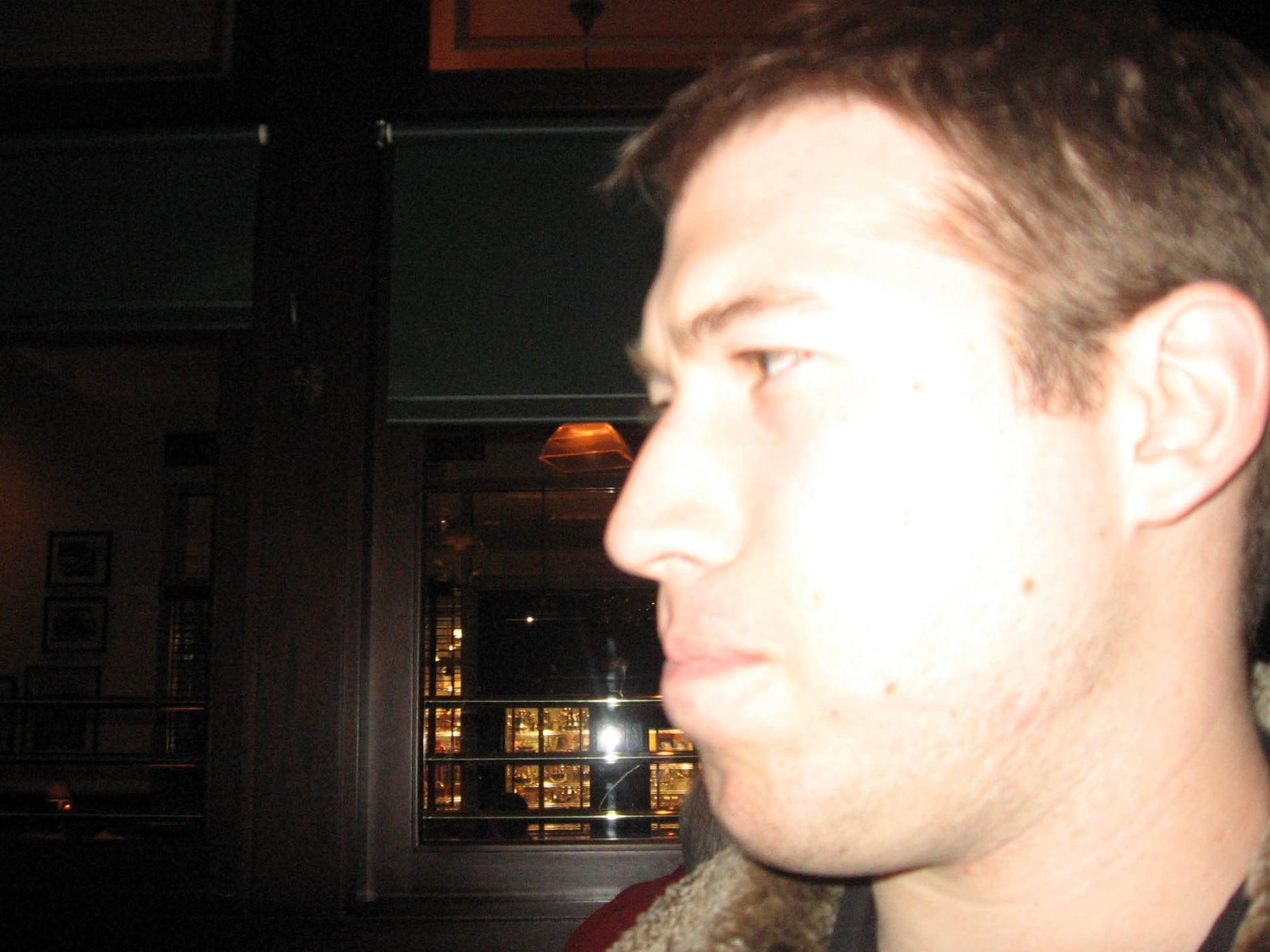 Close up of Matt  - Happy birthday Andy!