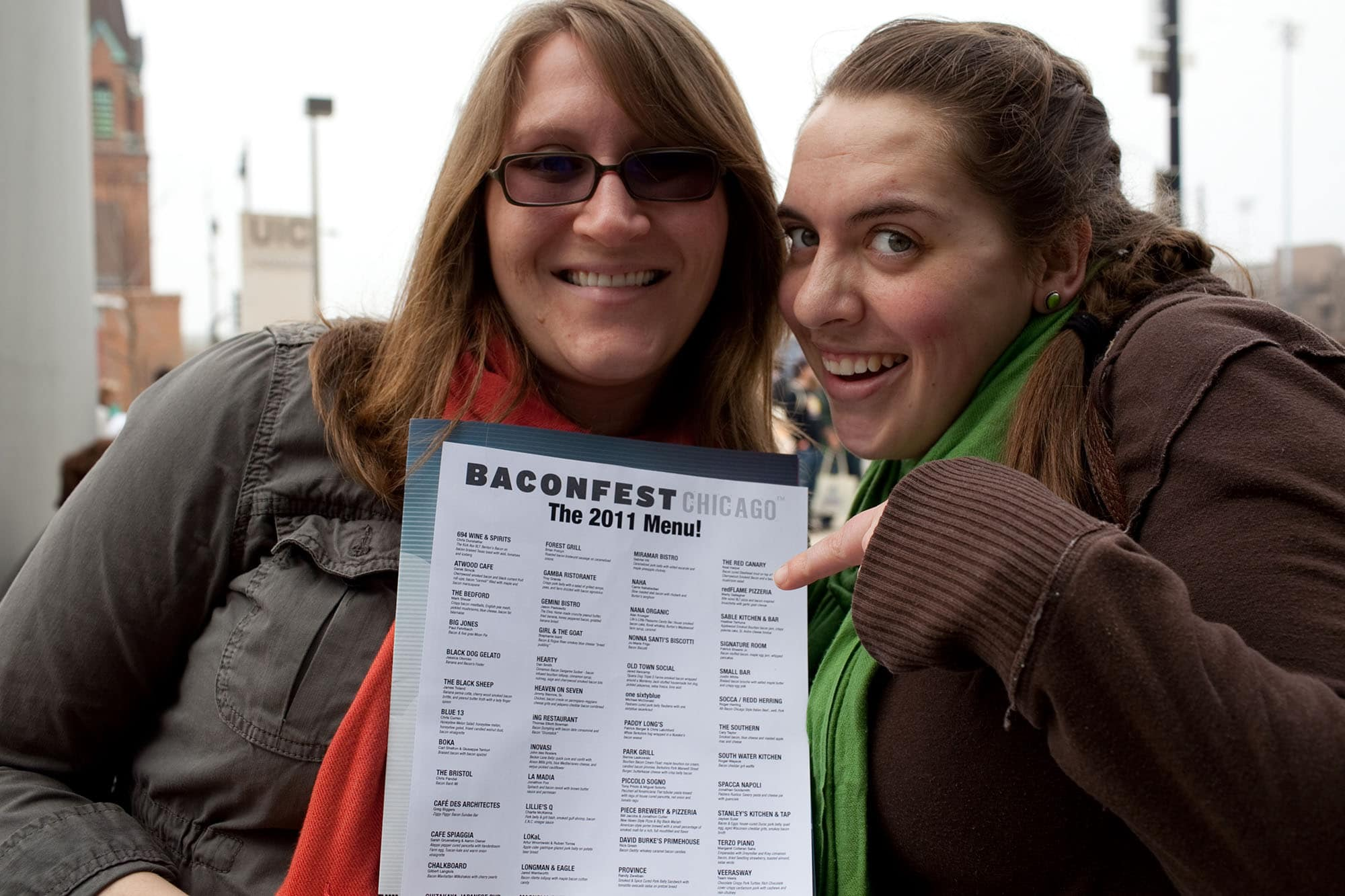 Waiting in line for Baconfest Chicago