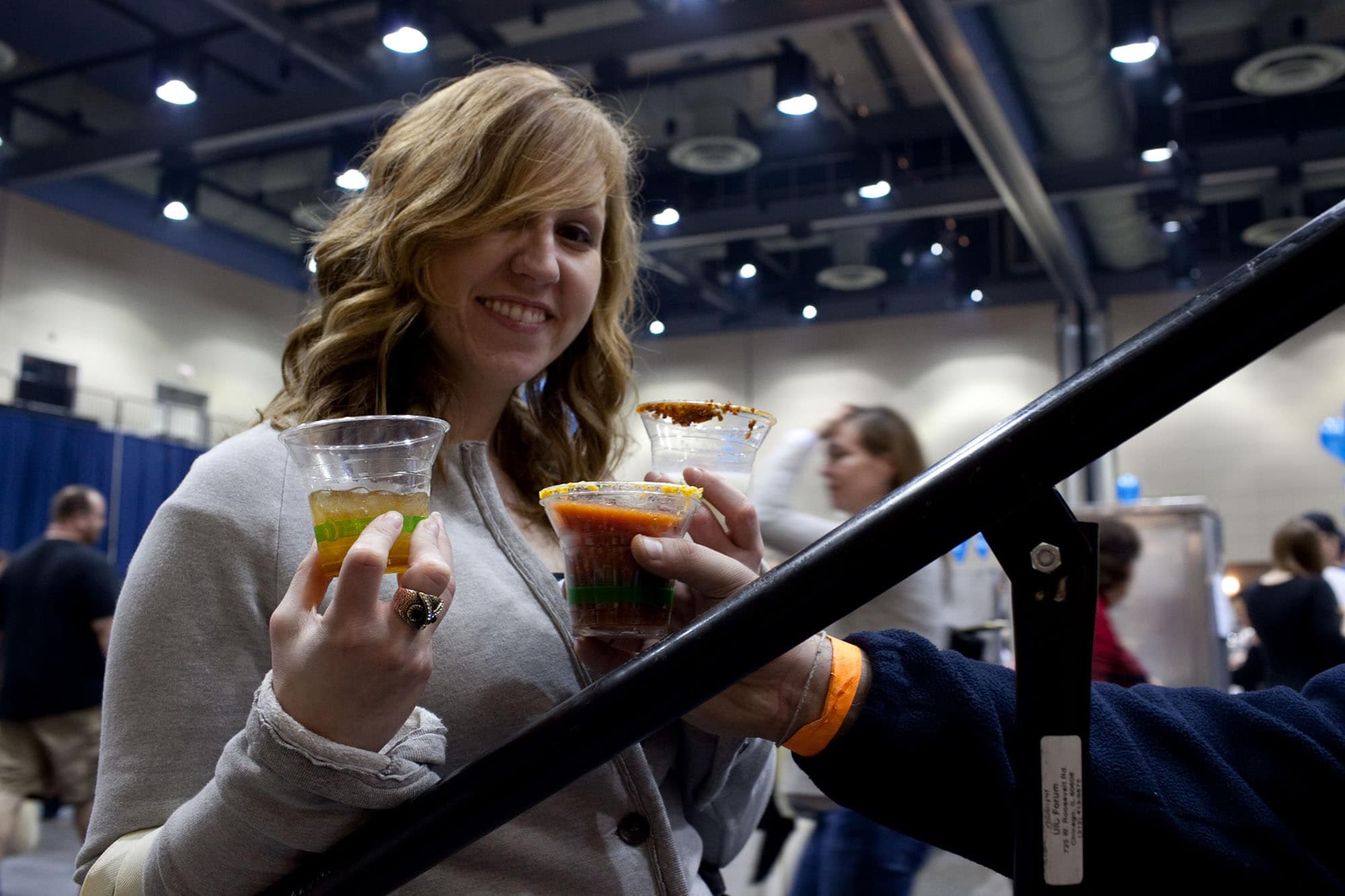 Bacon drinks at Baconfest Chicago