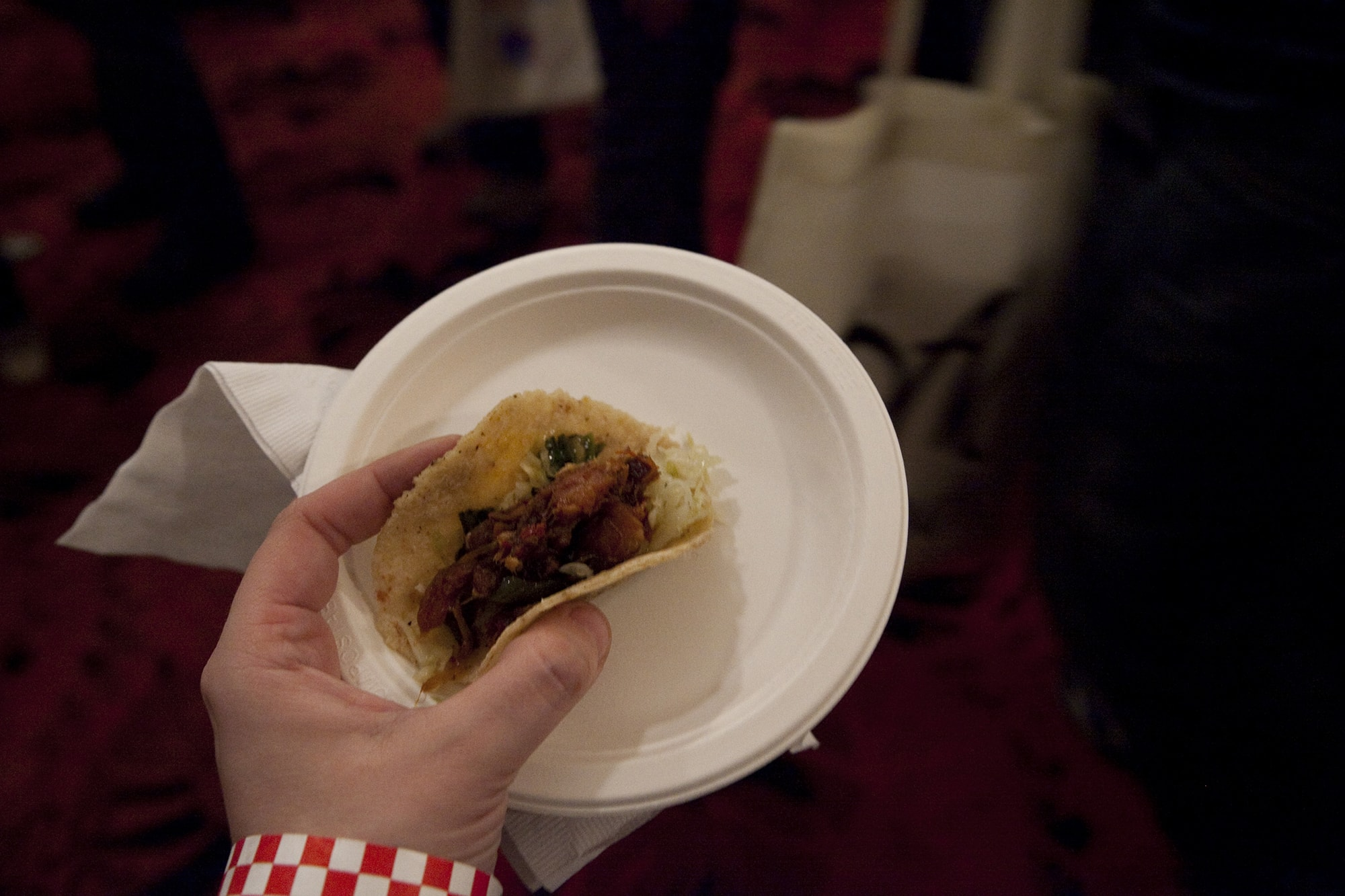 Bacon tacos from Primehouse at Baconfest Chicago - a bacon festival