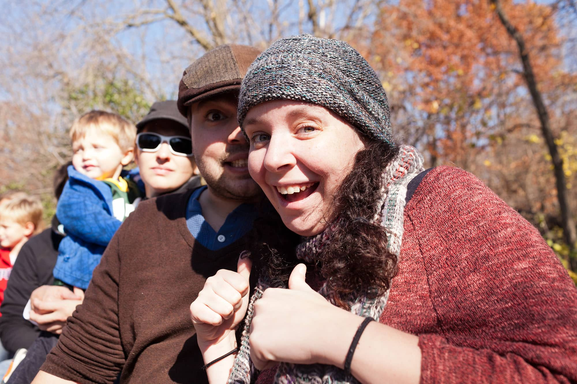 Heather and Jeremy at Bear Den Zoo Pumpkin Farm in Wisconsin