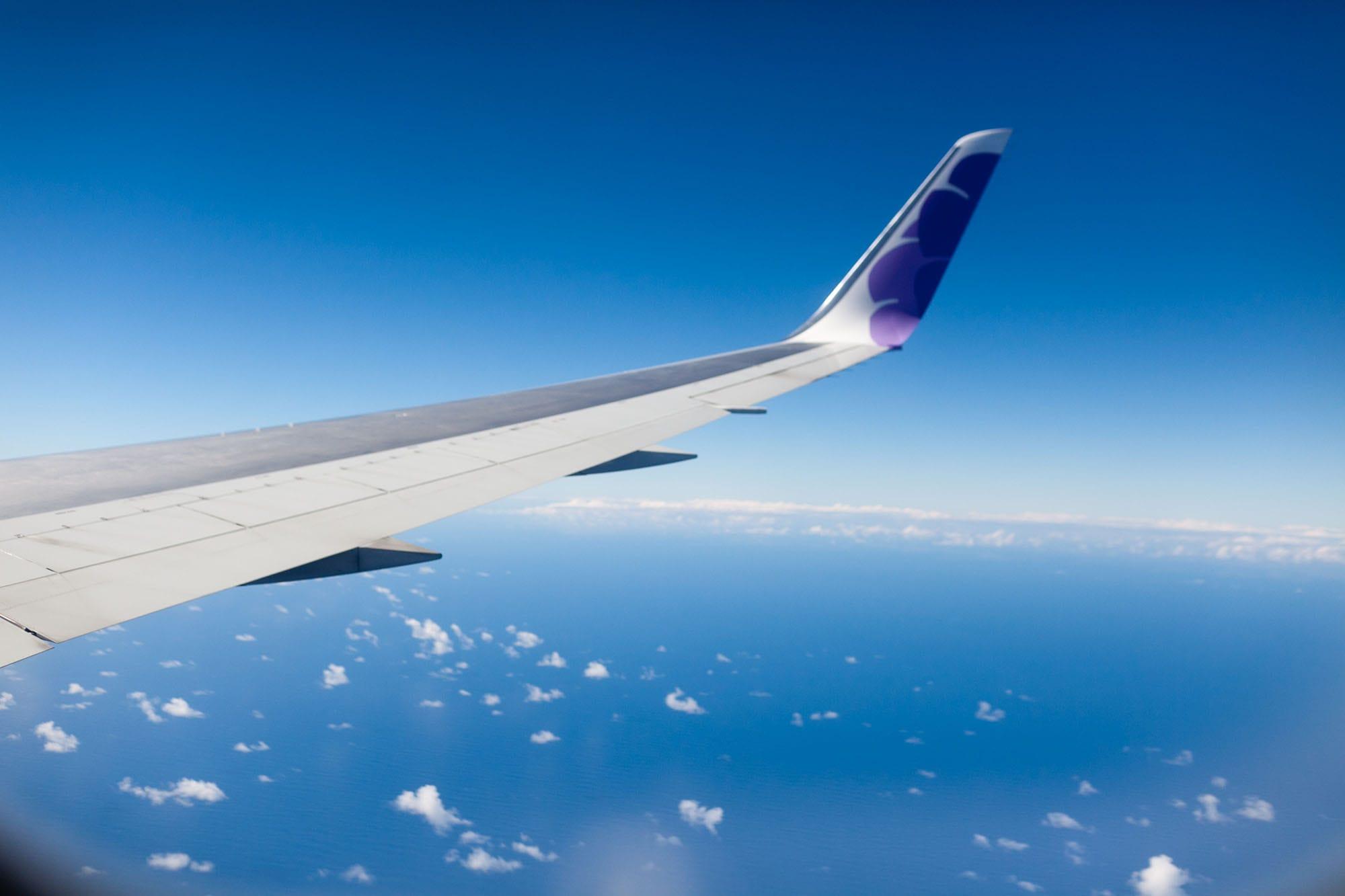 Flying to the Big Island in Hawaii