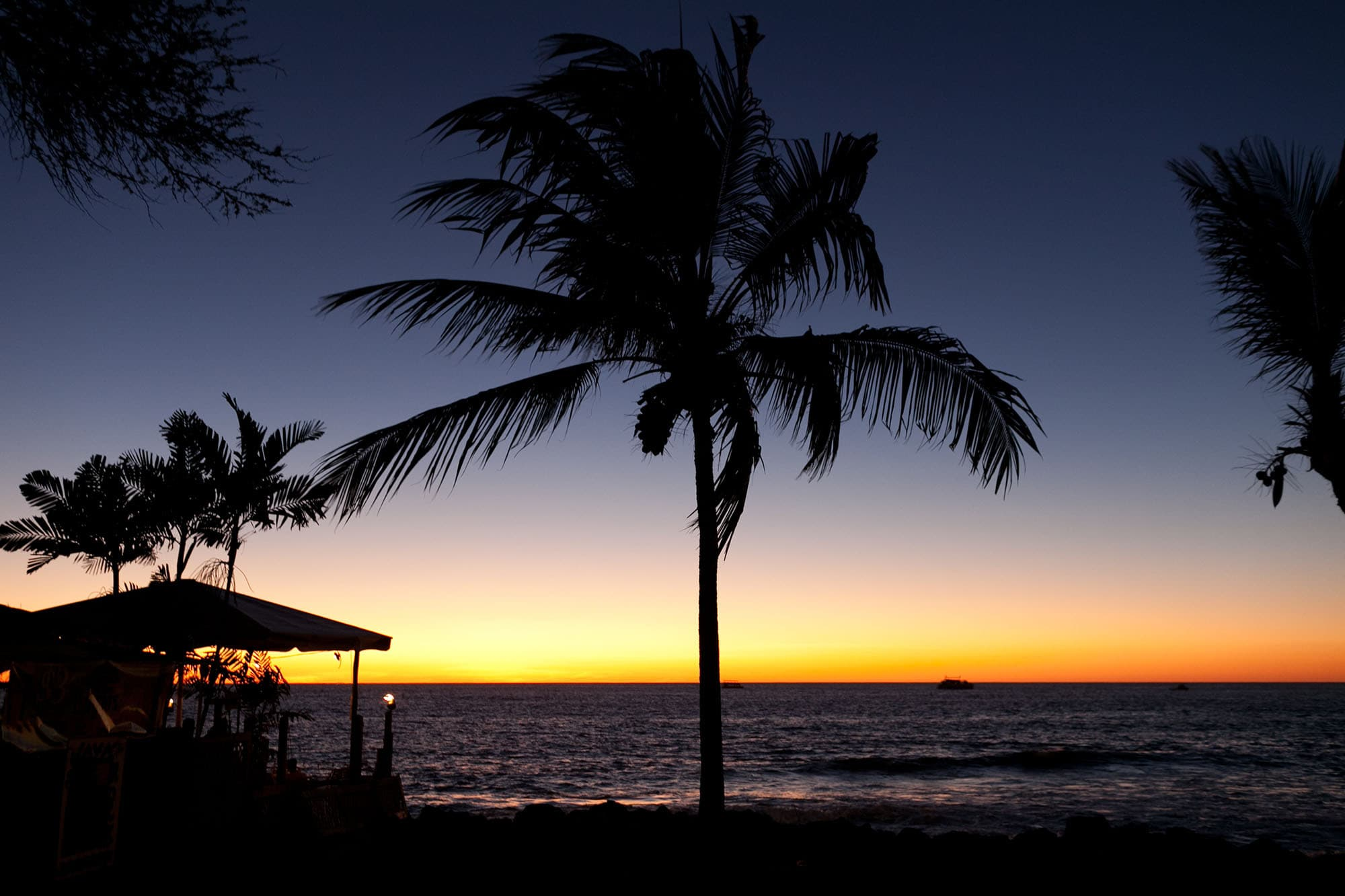 Sunset on the Big Island in Hawaii