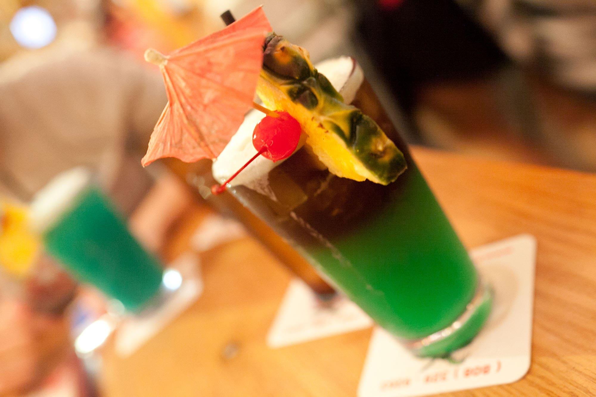 Umbrella drink in the Big Island in Hawaii