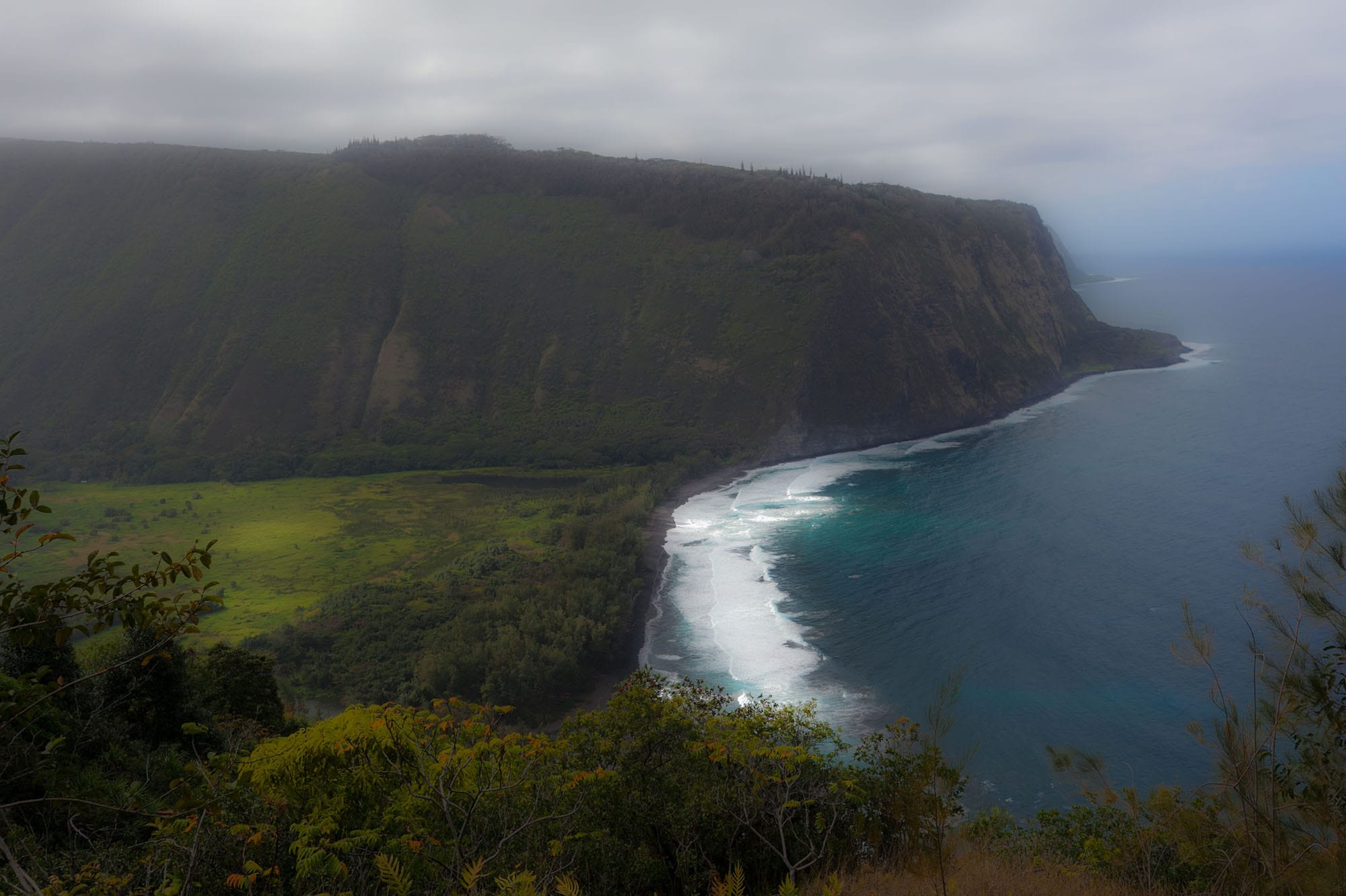 Waipio Lookout on the Big Island in Hawaii.
