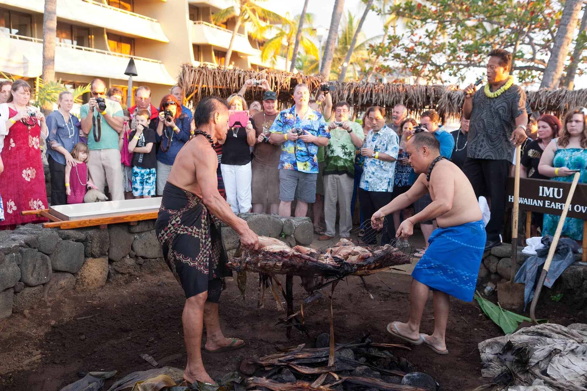 Hawaiian Luau on the Big Island in Hawaii. Life List #101: Get lei'd in Hawaii. - Getting a lei at a Hawaiian Luau on the Big Island in Hawaii.