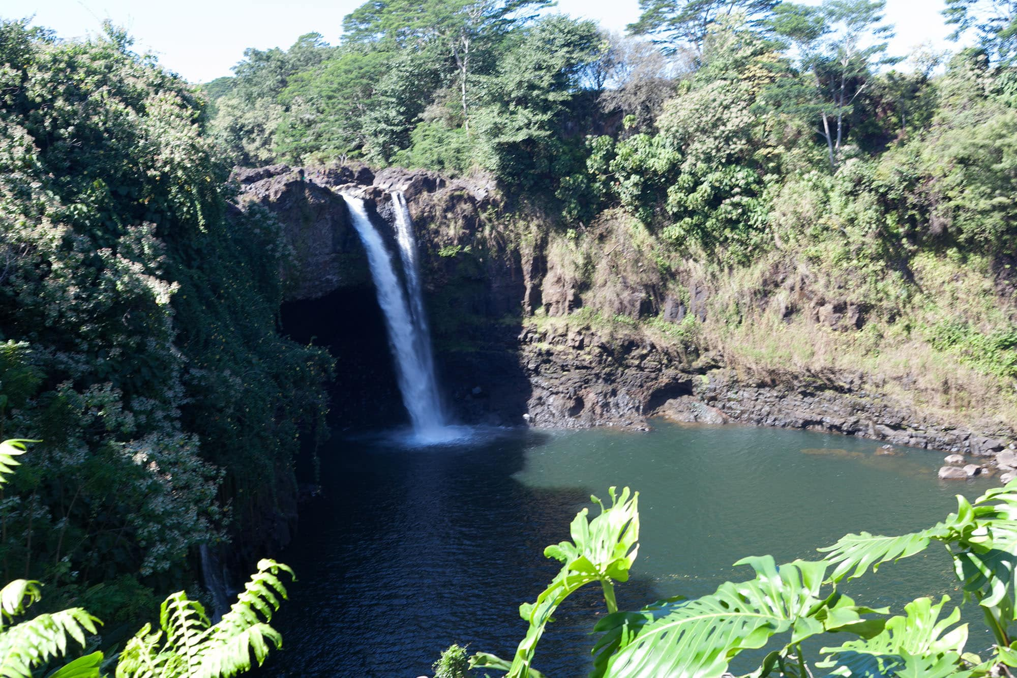 Big Island Waterfalls - Rainbow Falls on the Big Island, Hawaii.