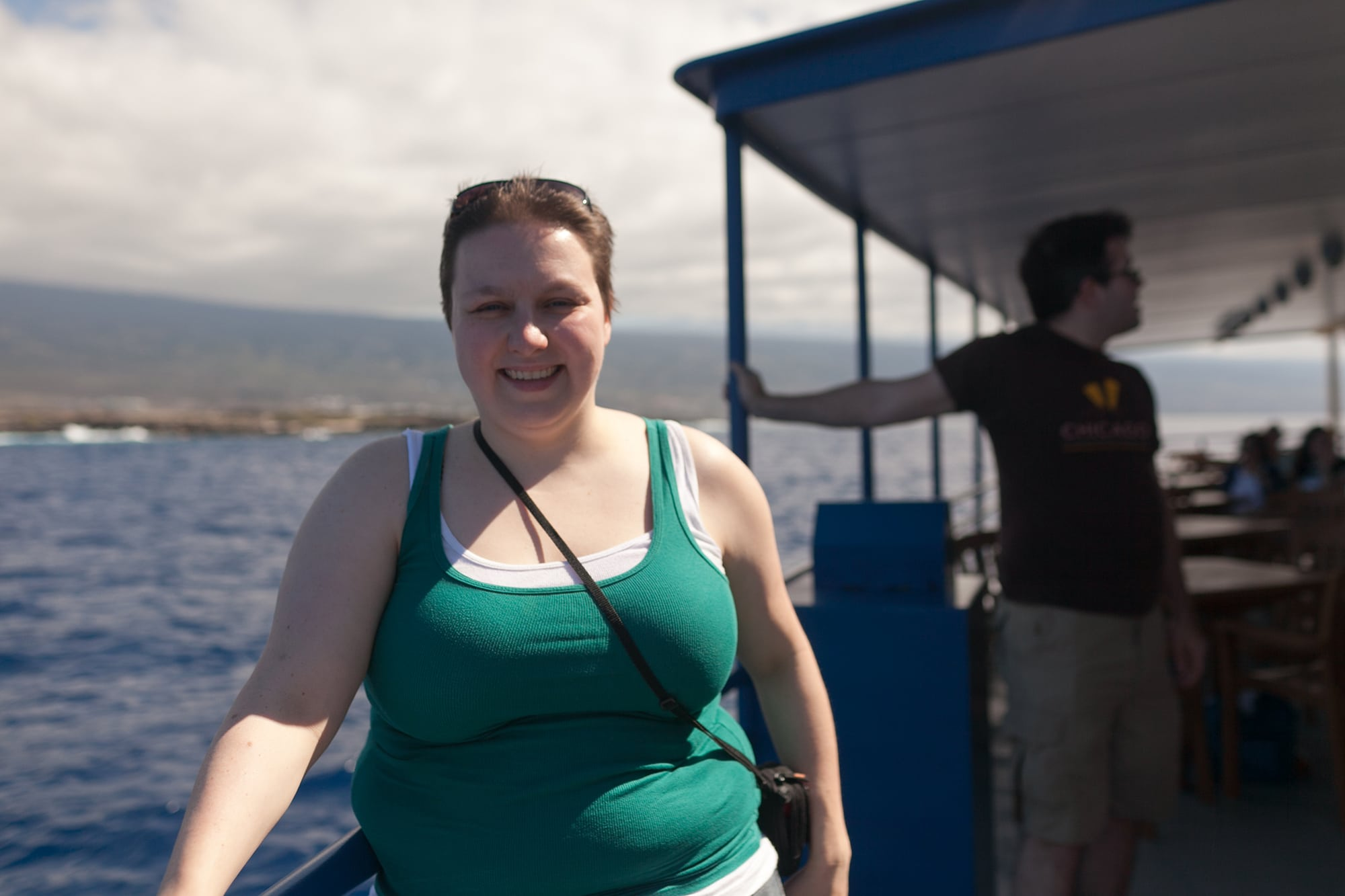 Whale watching in Kona on the Big Island in Hawaii.